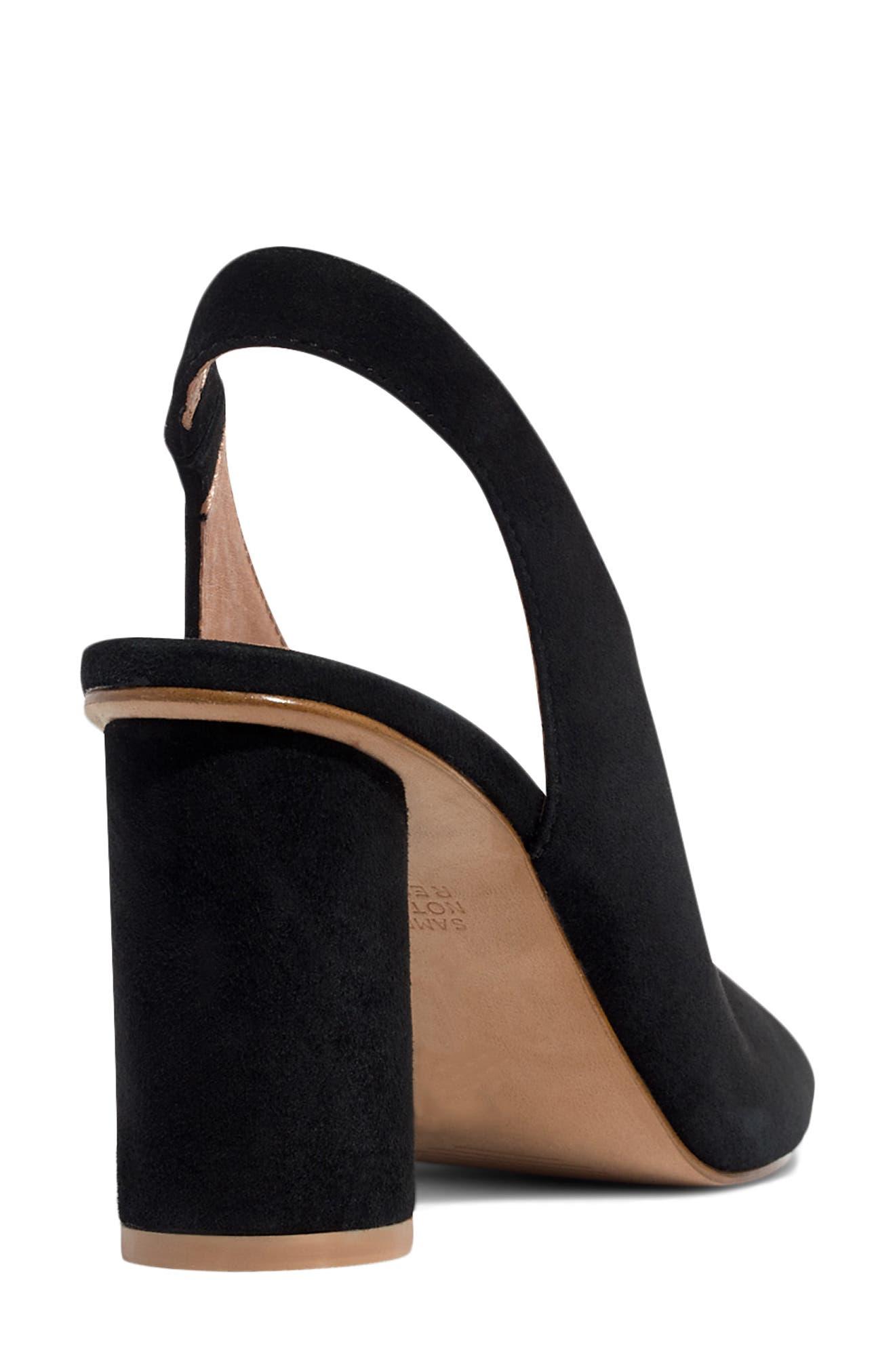 The Alana Slingback Sandal,                             Alternate thumbnail 7, color,                             TRUE BLACK SUEDE