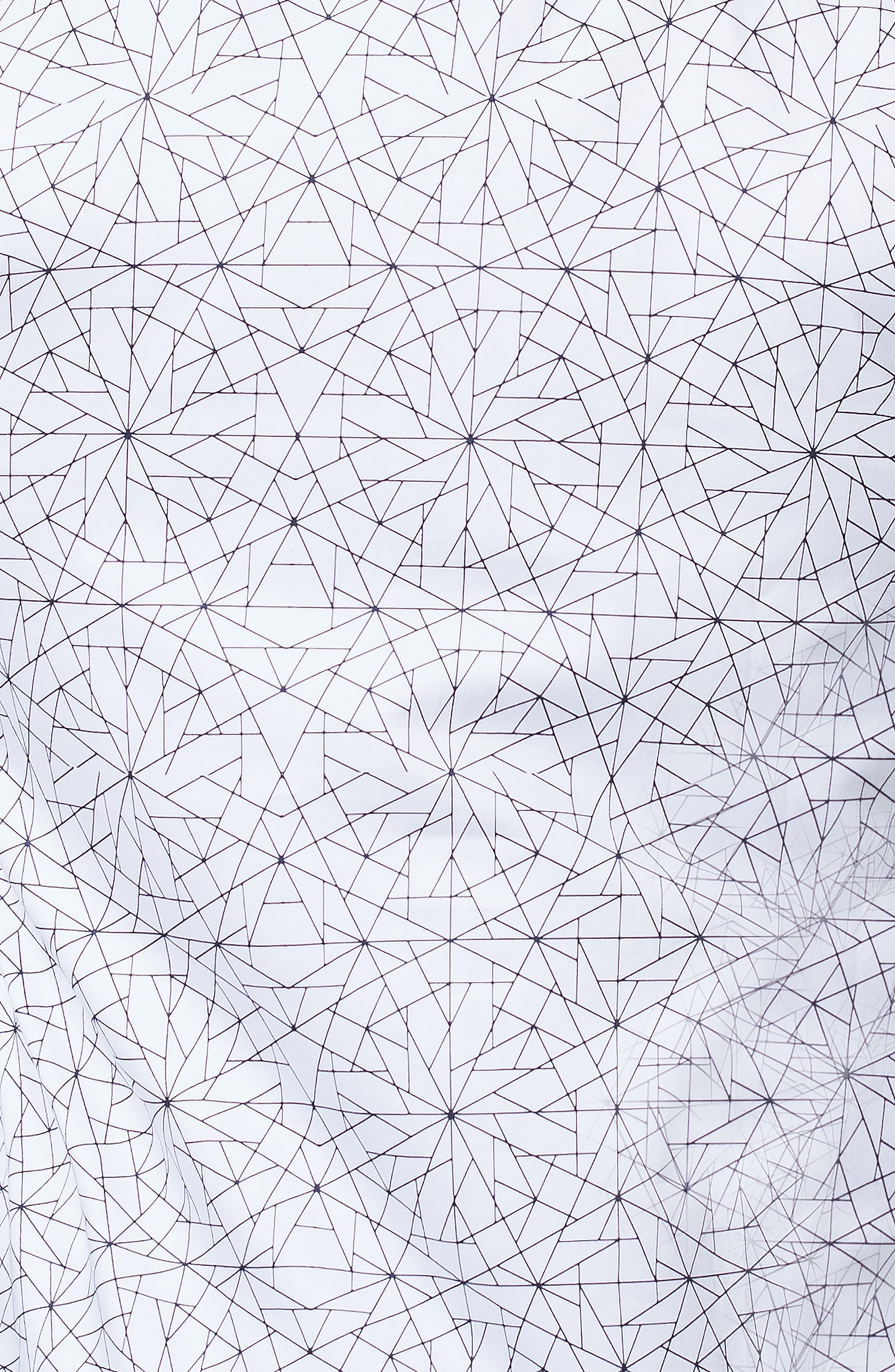 Fibonacci Geometric Regular Fit Print Sport Shirt,                             Alternate thumbnail 3, color,                             WHITE