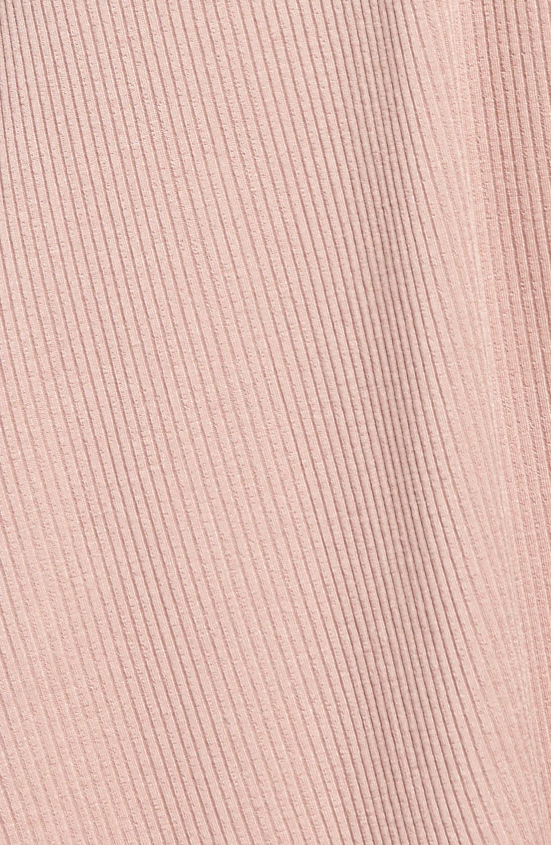 Rib Knit Lace-Up Swing Dress,                             Alternate thumbnail 11, color,