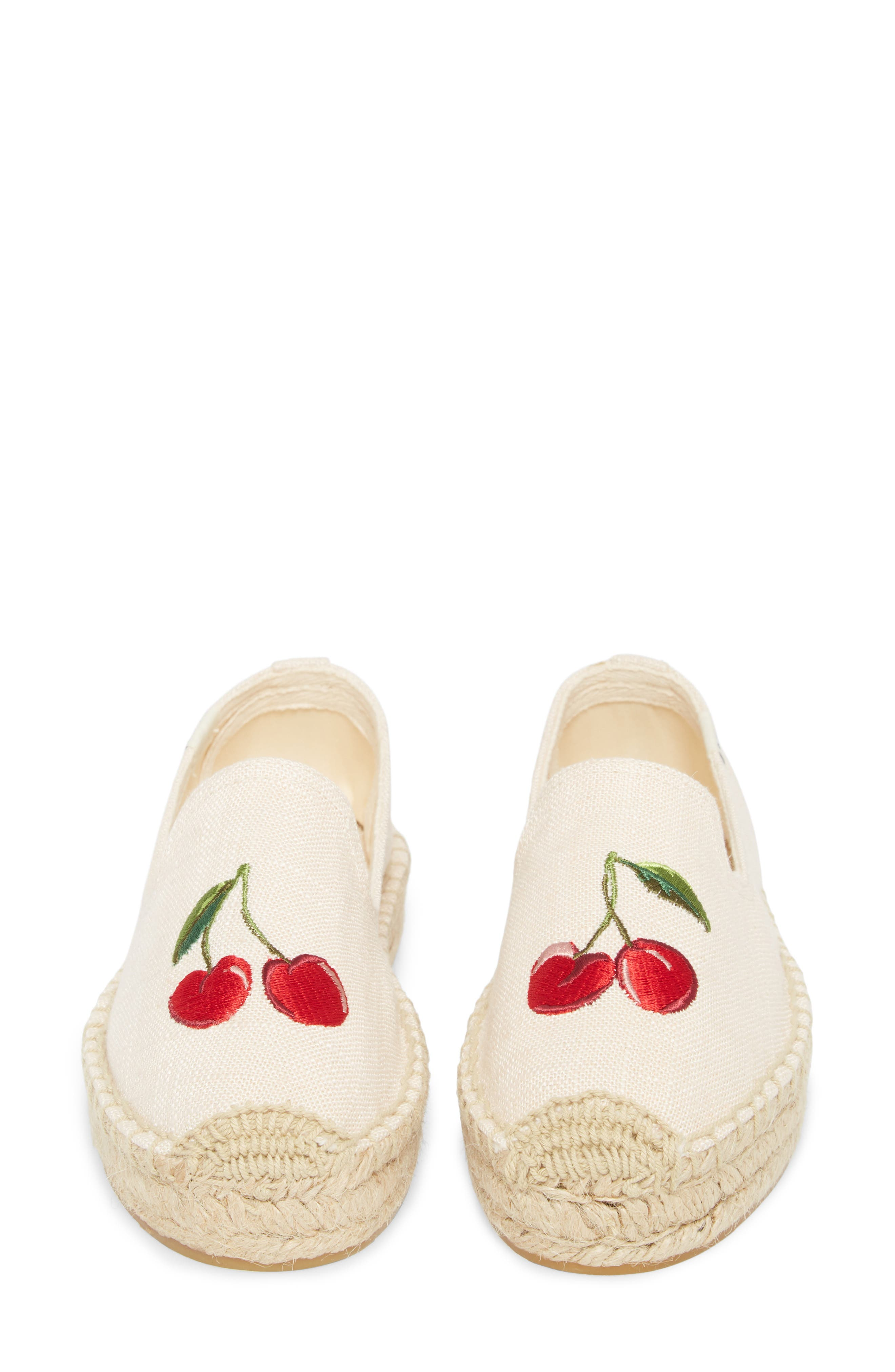 Cherries Embroidered Espadrille,                             Alternate thumbnail 5, color,                             680