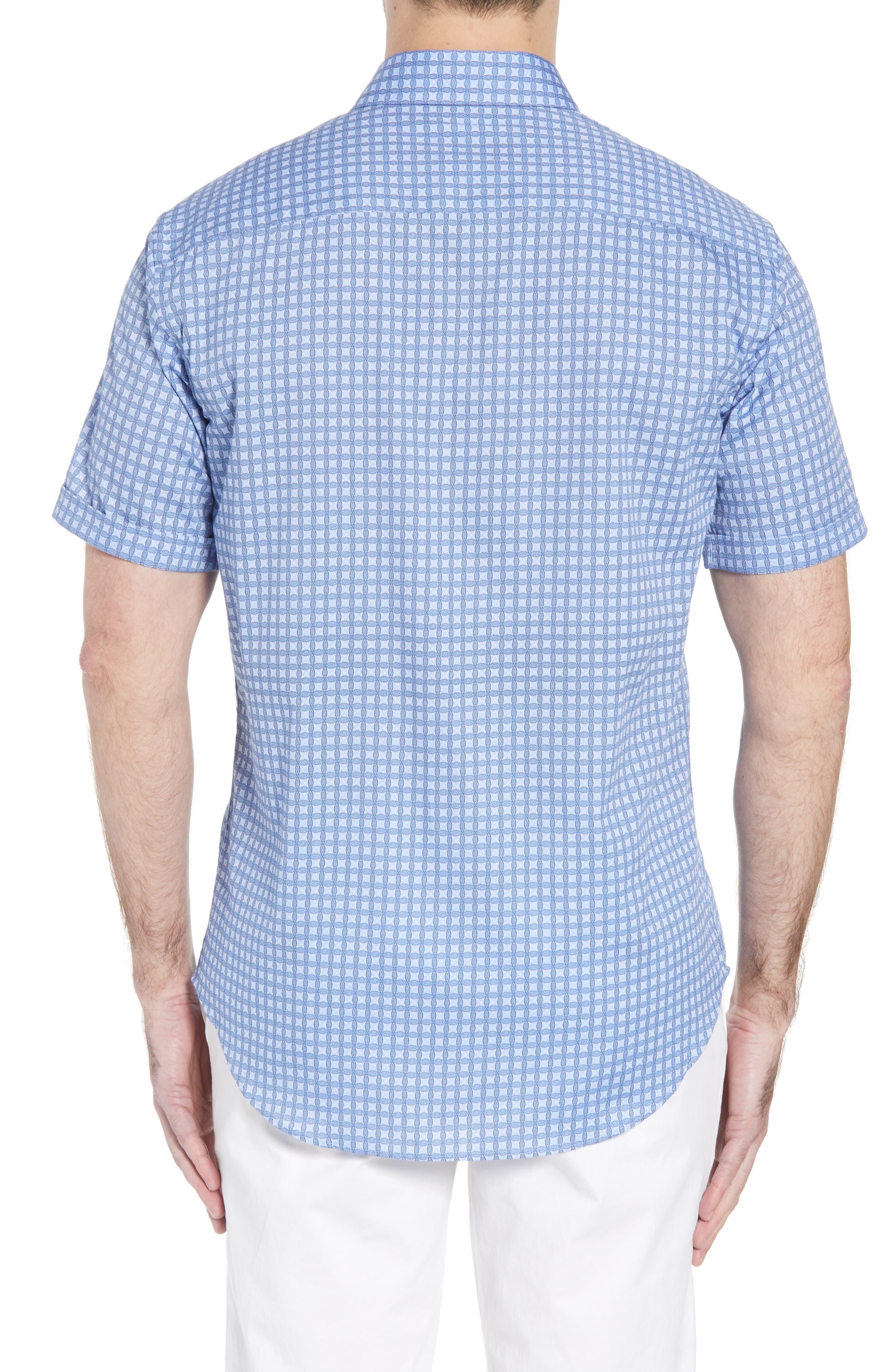 Shaped Fit Print Sport Shirt,                             Alternate thumbnail 2, color,                             459