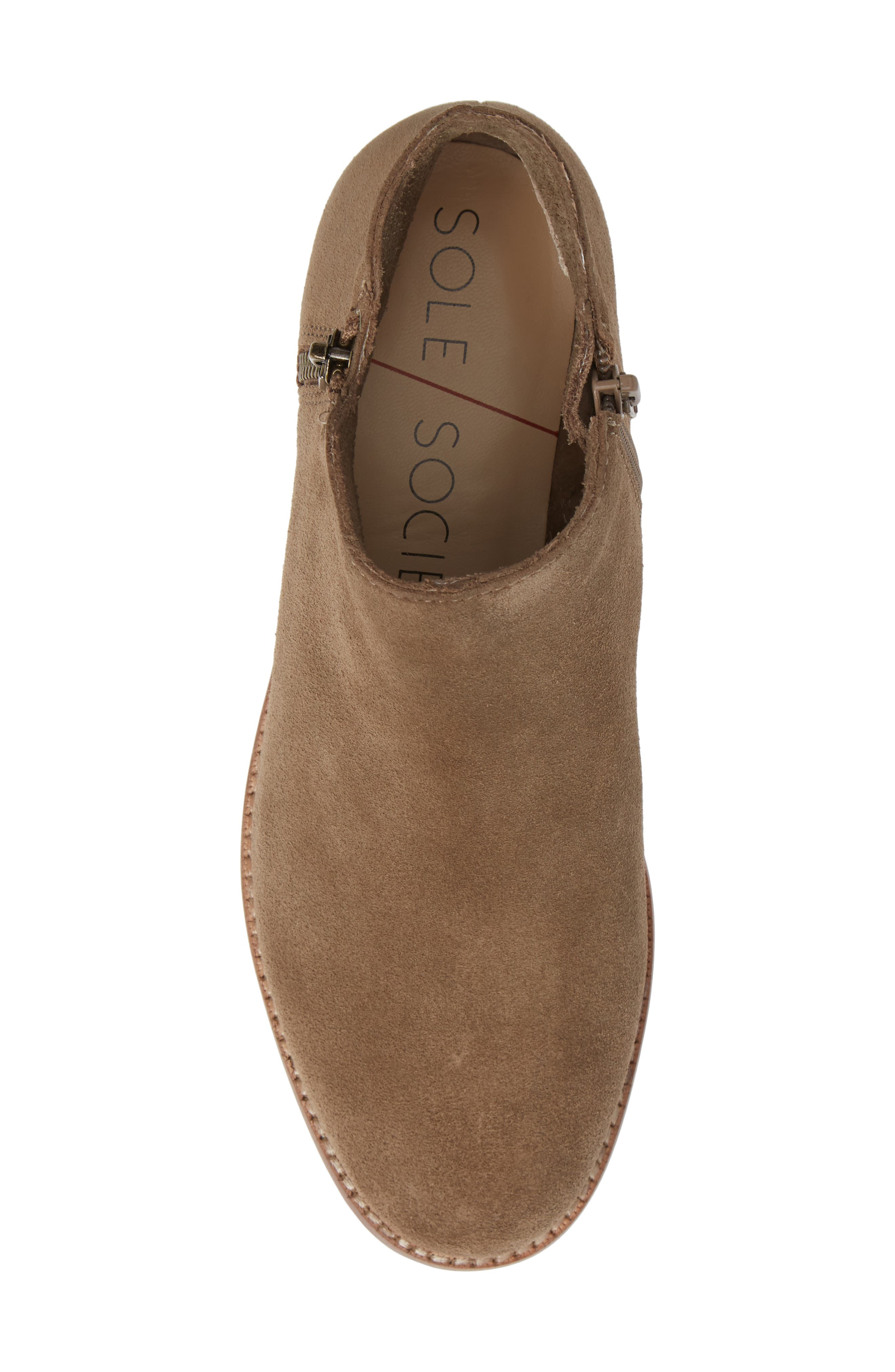 Bevlyn Bootie,                             Alternate thumbnail 5, color,                             ROCK SUEDE