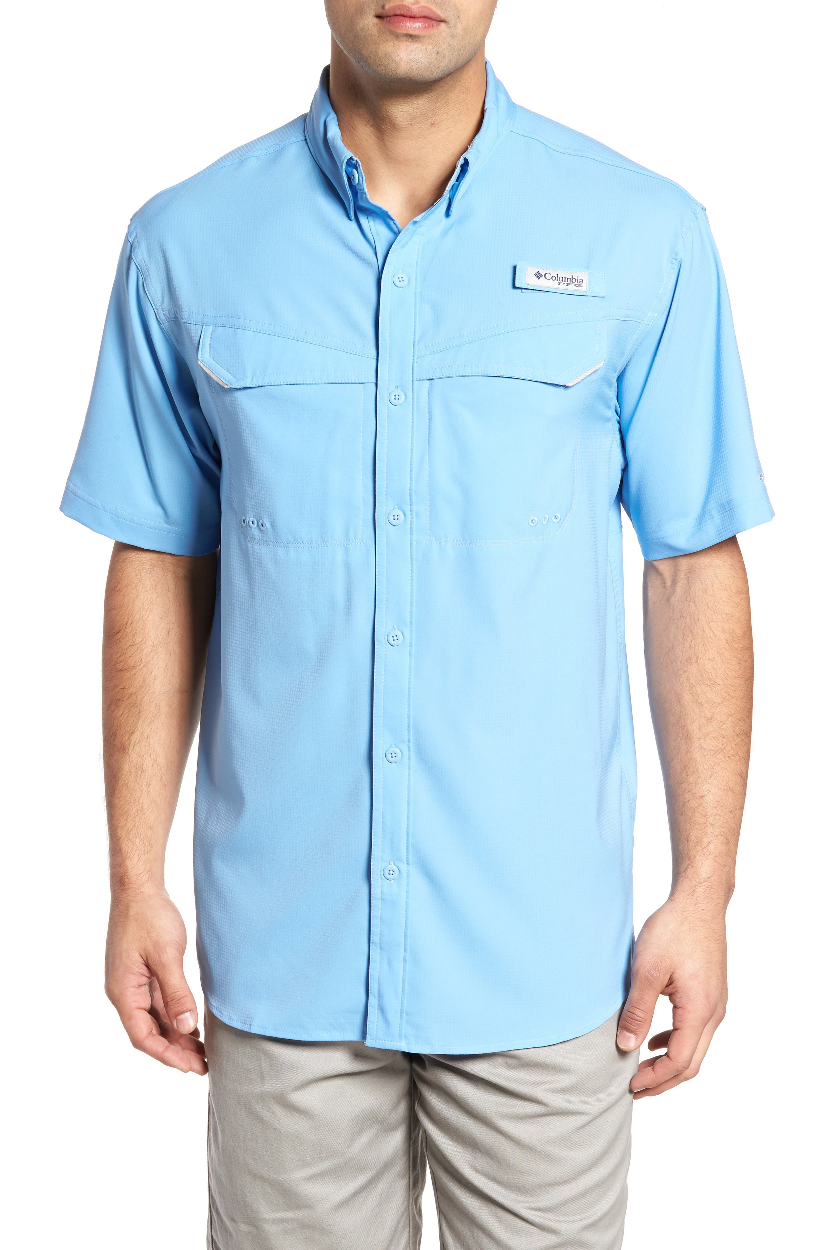 PFG Low Drag Offshore Woven Shirt,                         Main,                         color,