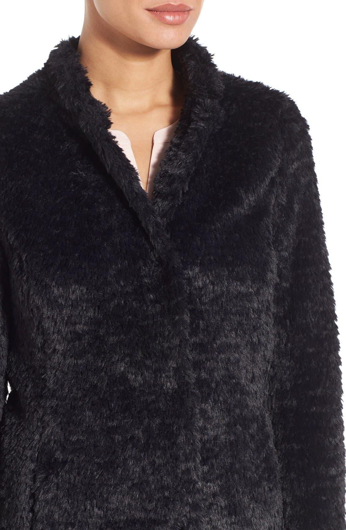 Faux Fur Jacket,                             Alternate thumbnail 23, color,