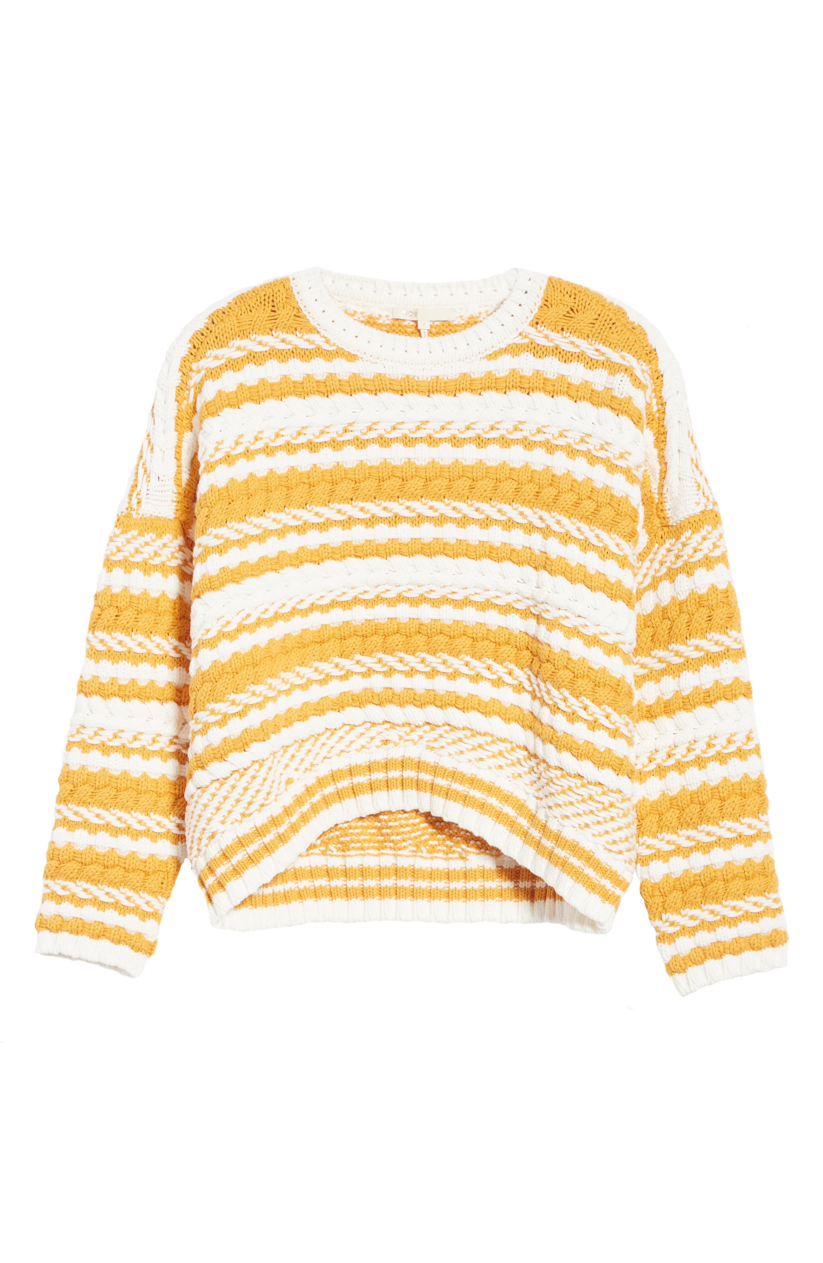 Modeste Chunky Stripe Sweater,                             Alternate thumbnail 6, color,                             800