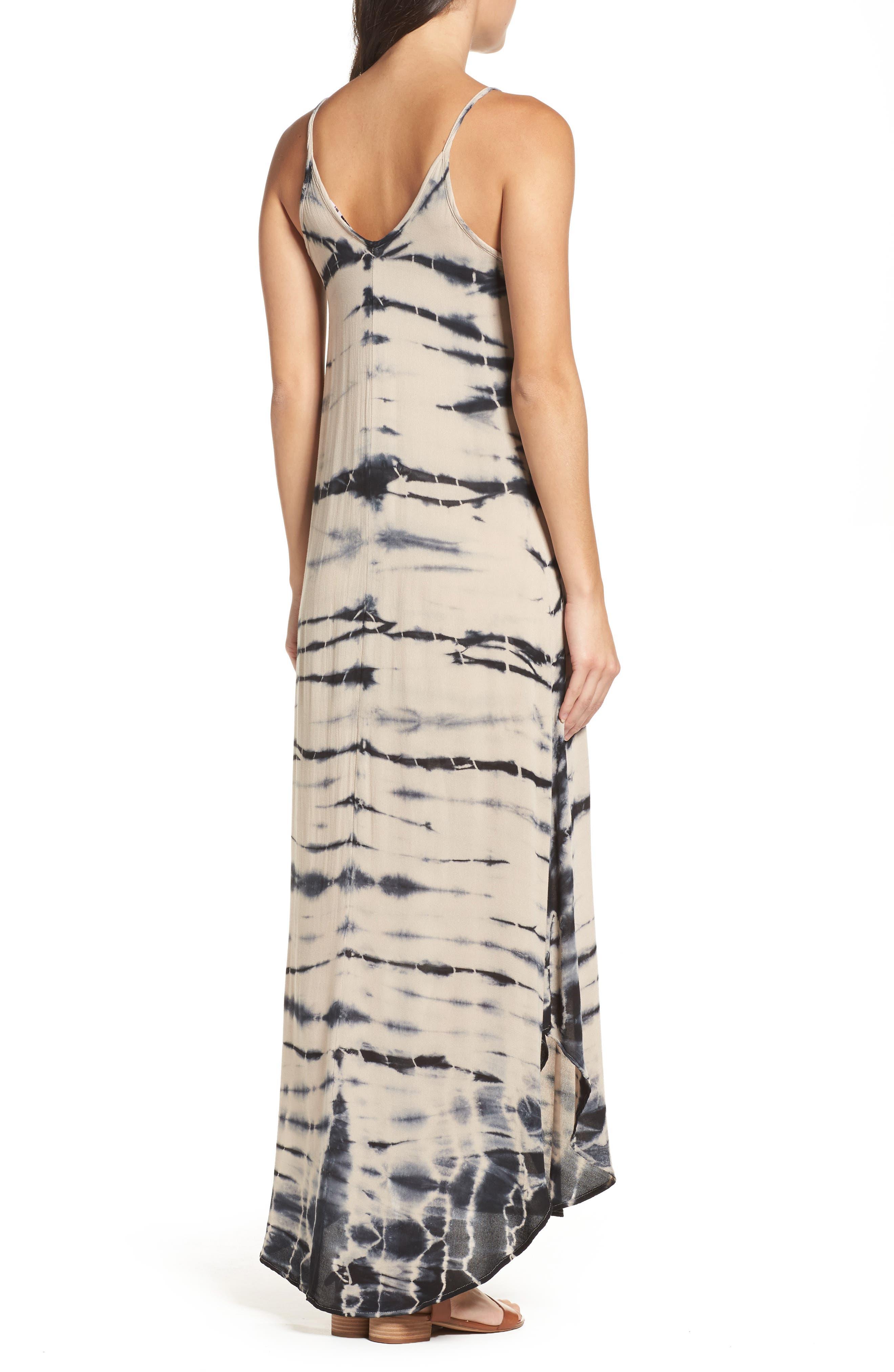 Tie Dye A-Line Maxi Dress,                             Alternate thumbnail 2, color,                             250