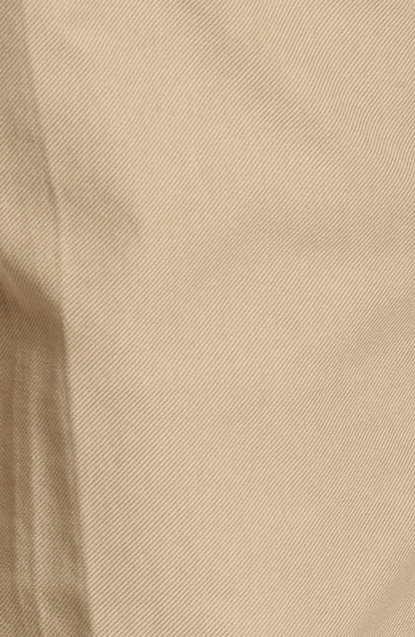 Five-Pocket Solid Stretch Cotton Trousers,                             Alternate thumbnail 5, color,                             STONE