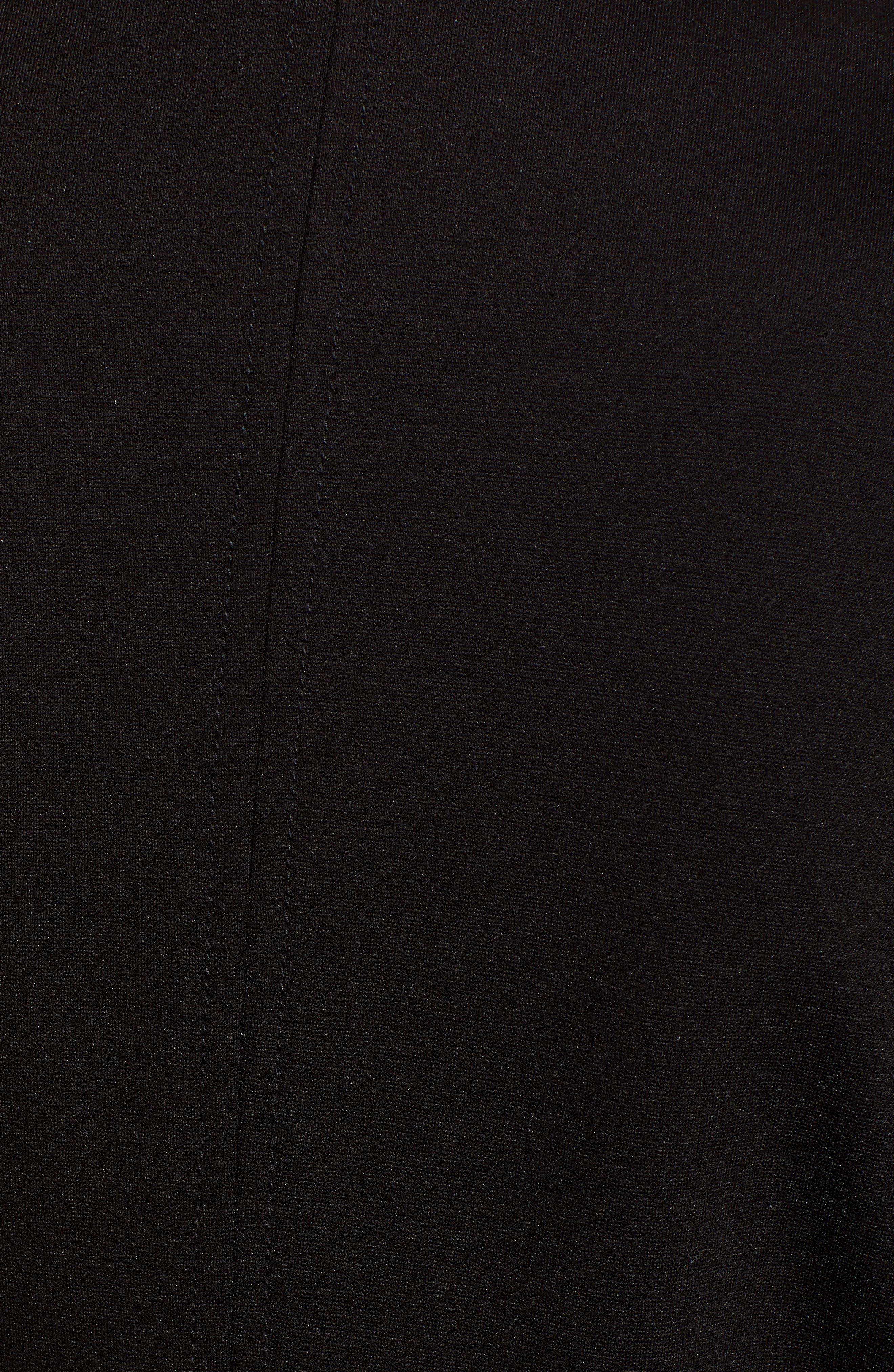 Knit Moto Jacket,                             Alternate thumbnail 7, color,                             CAVIAR