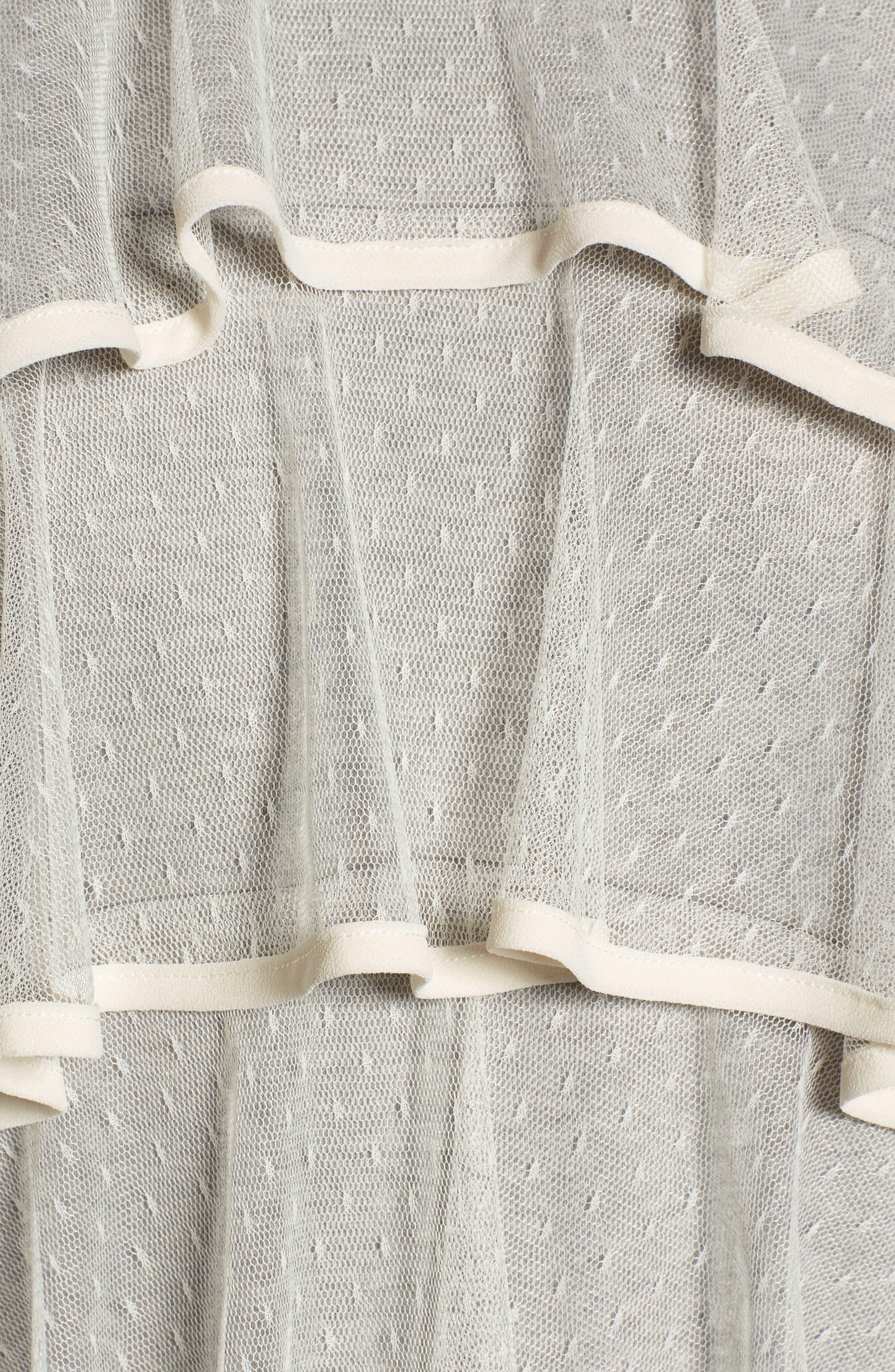 Mesh Ruffle Sweatshirt,                             Alternate thumbnail 5, color,                             033