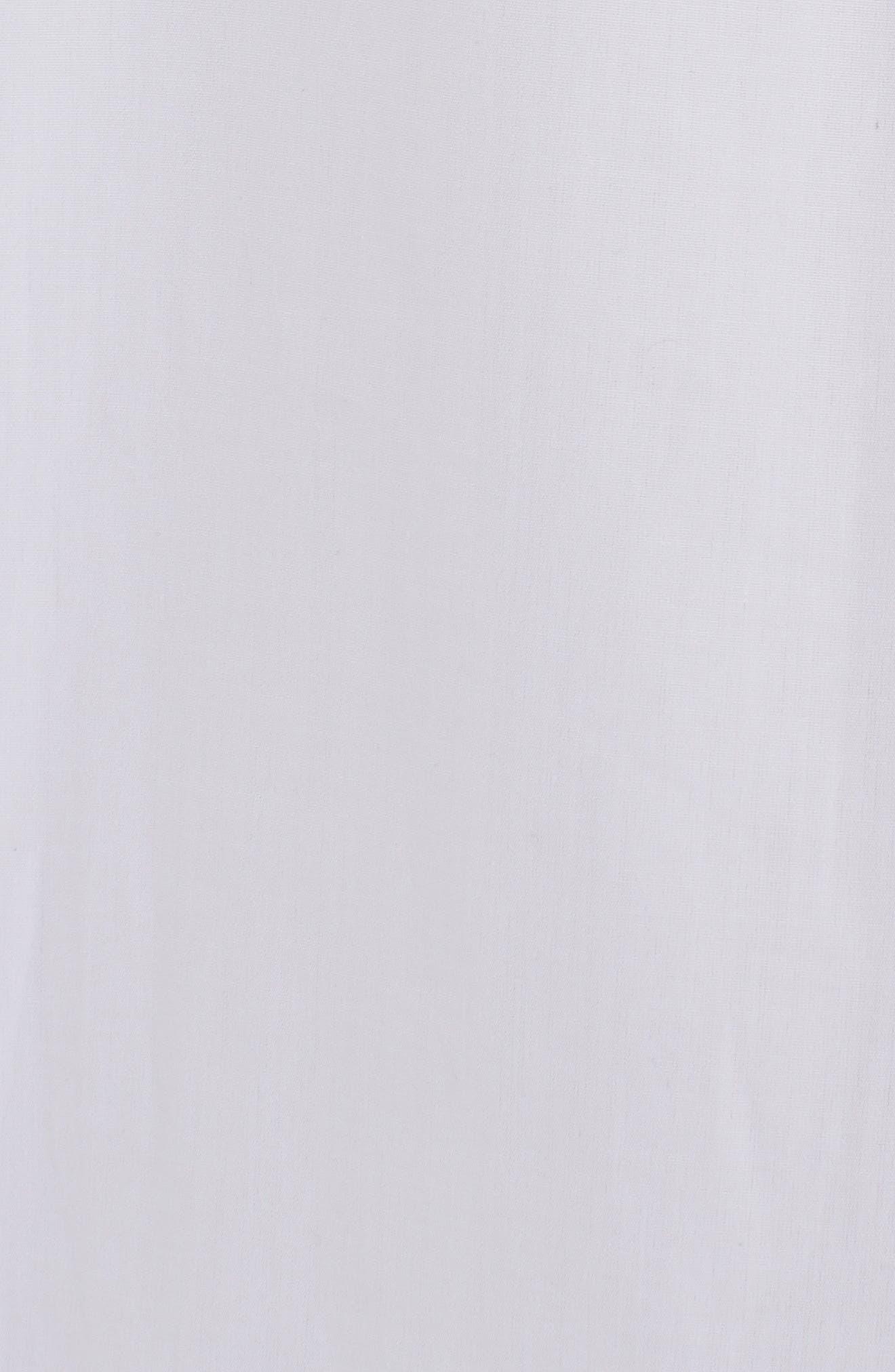 Ruffle Poplin Blouse,                             Alternate thumbnail 5, color,                             WHITE