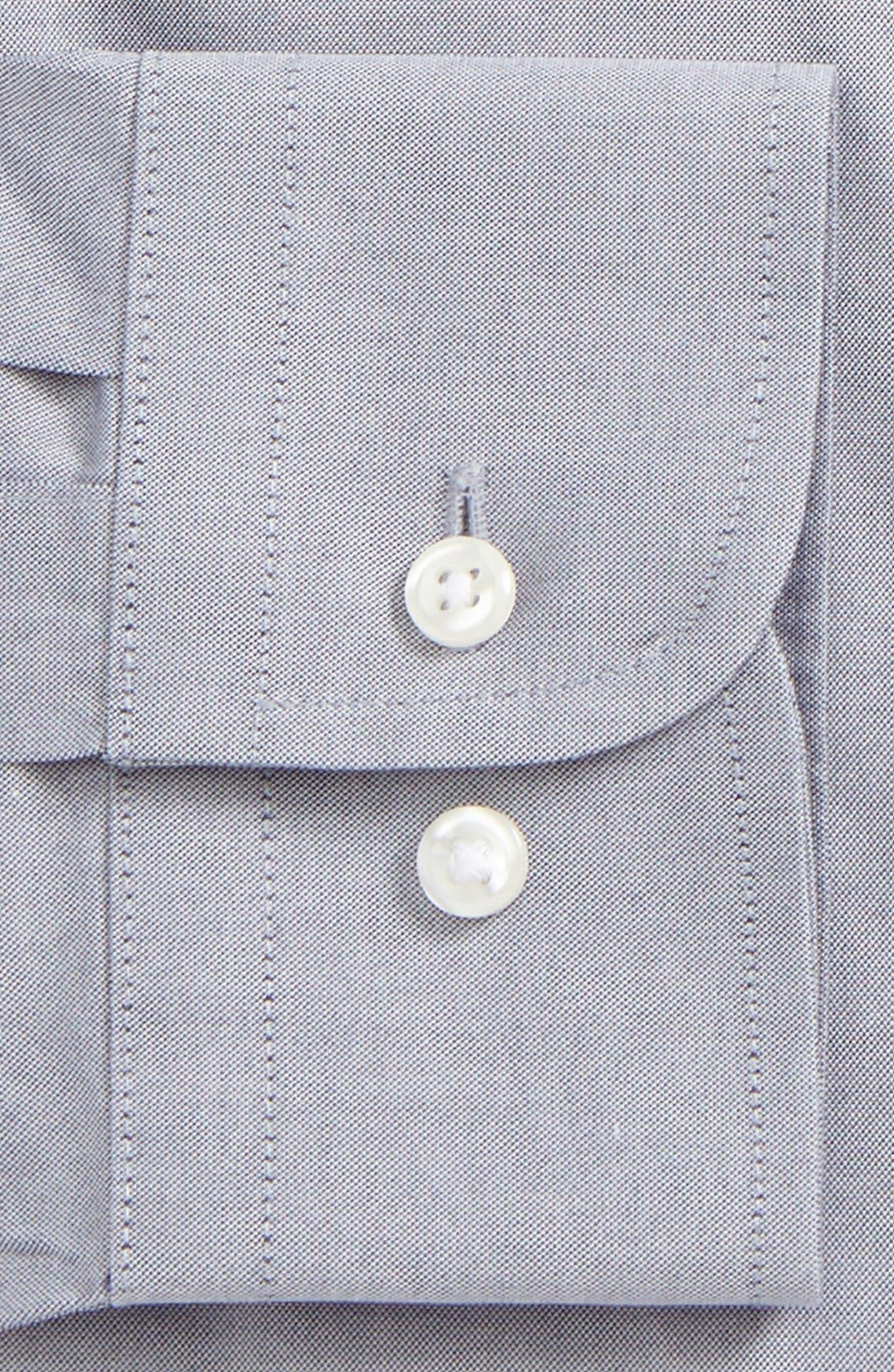 Smartcare<sup>™</sup> Trim Fit Solid Dress Shirt,                             Alternate thumbnail 2, color,                             NAVY- PATRIOT