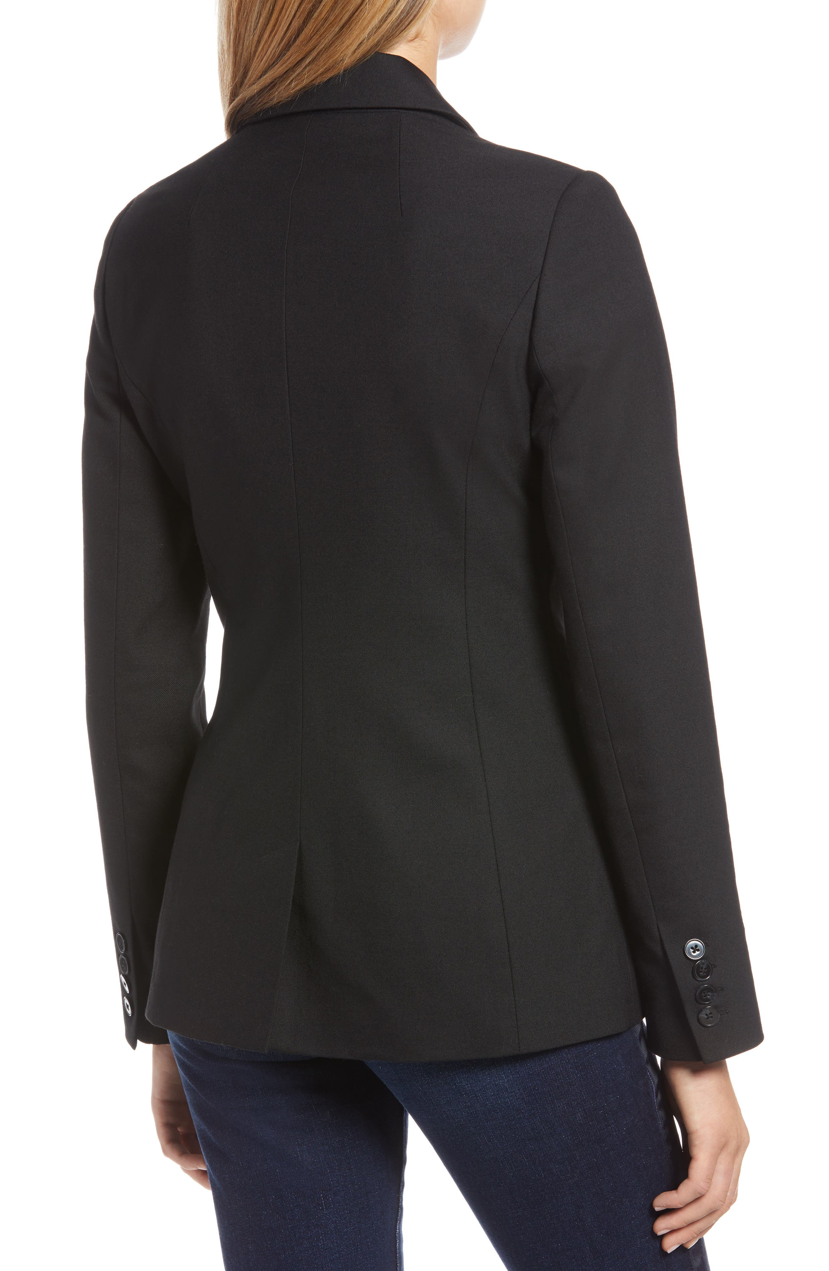 Original Wool Blazer,                             Alternate thumbnail 2, color,                             BLACK
