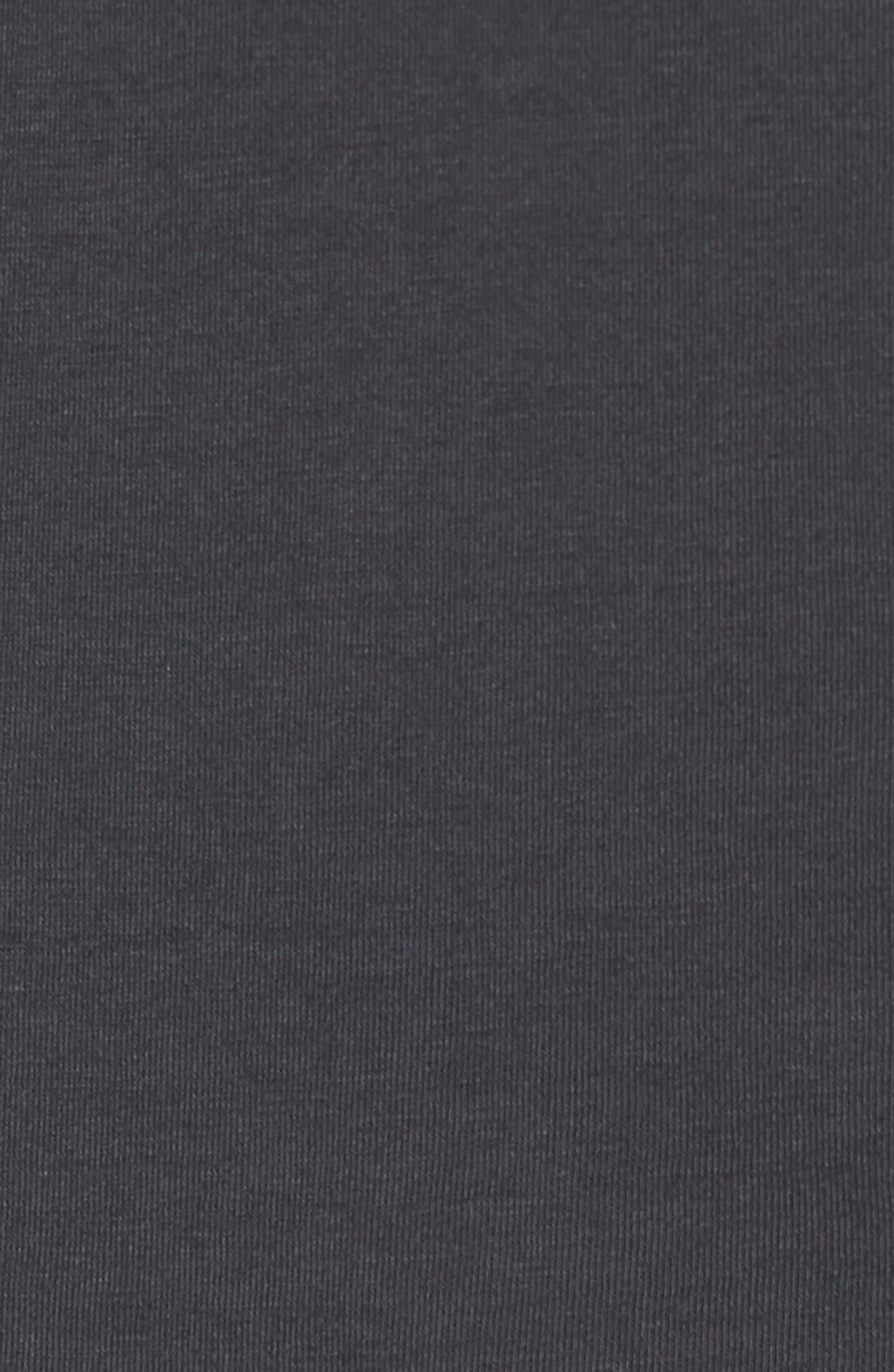 Flipped Perimeter Burnout T-Shirt,                             Alternate thumbnail 5, color,                             008