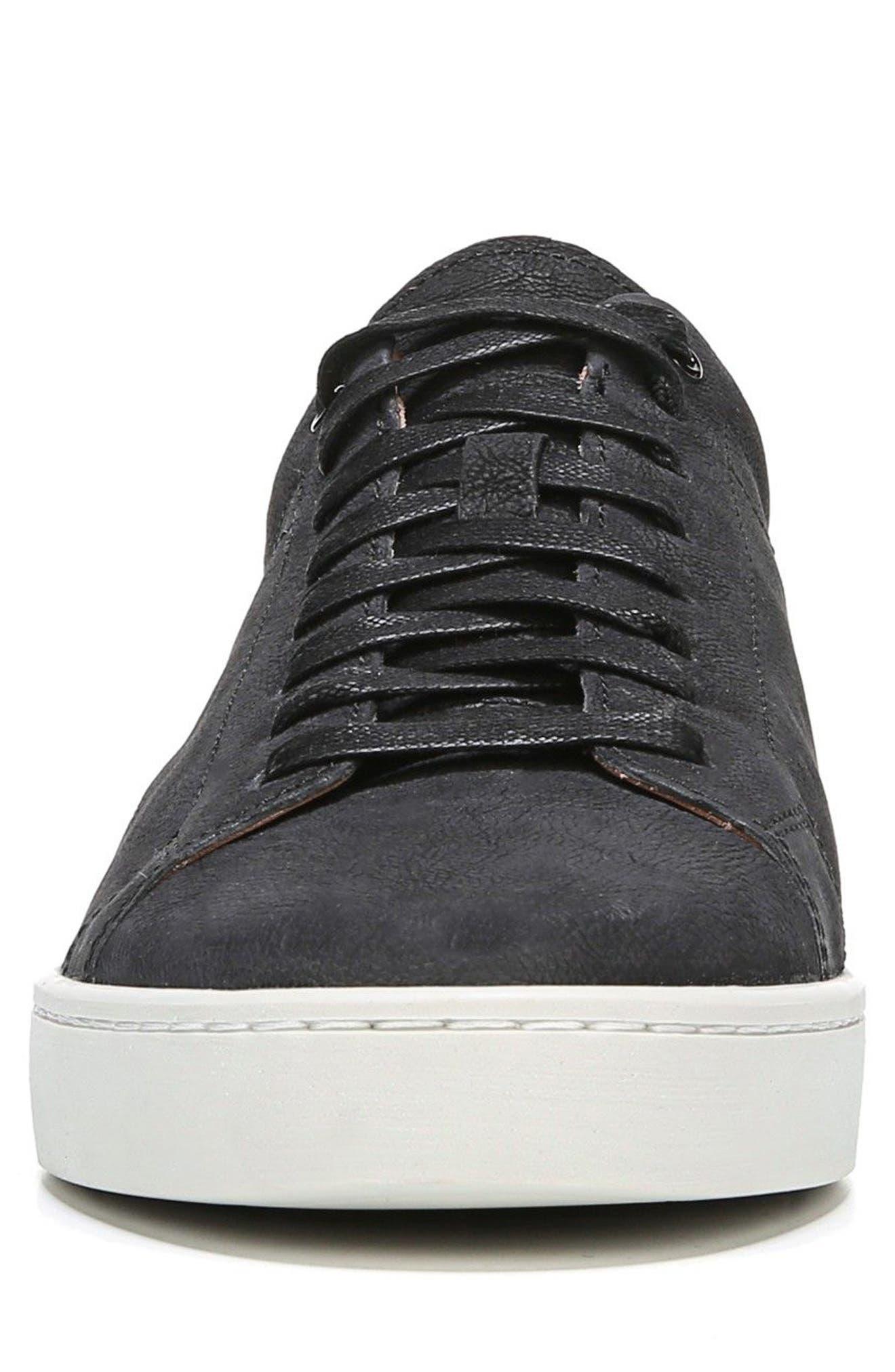 Slater Sneaker,                             Alternate thumbnail 4, color,                             BLACK NUBUCK