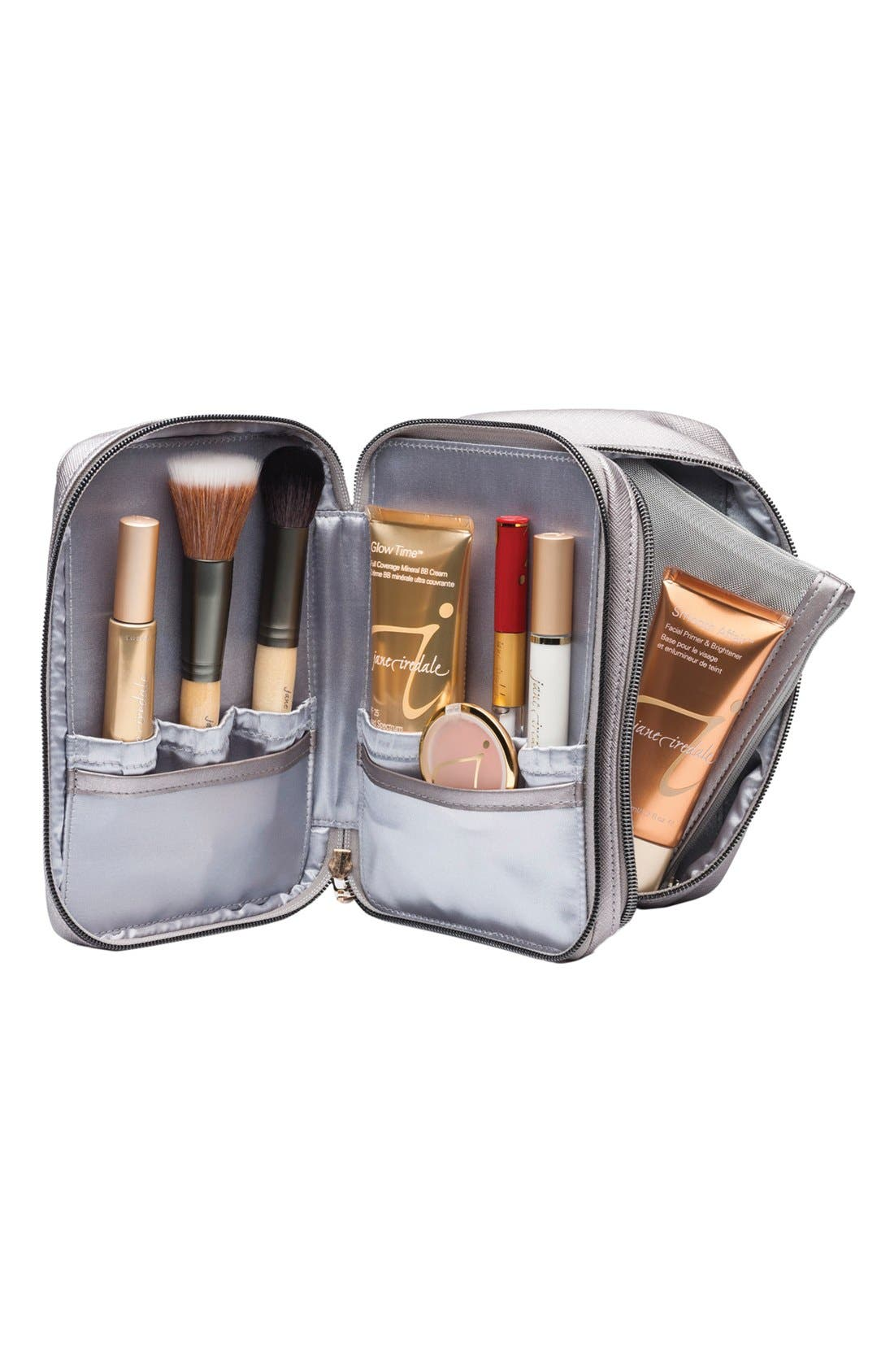 Deluxe Mirrored Cosmetics Bag,                             Alternate thumbnail 2, color,                             000
