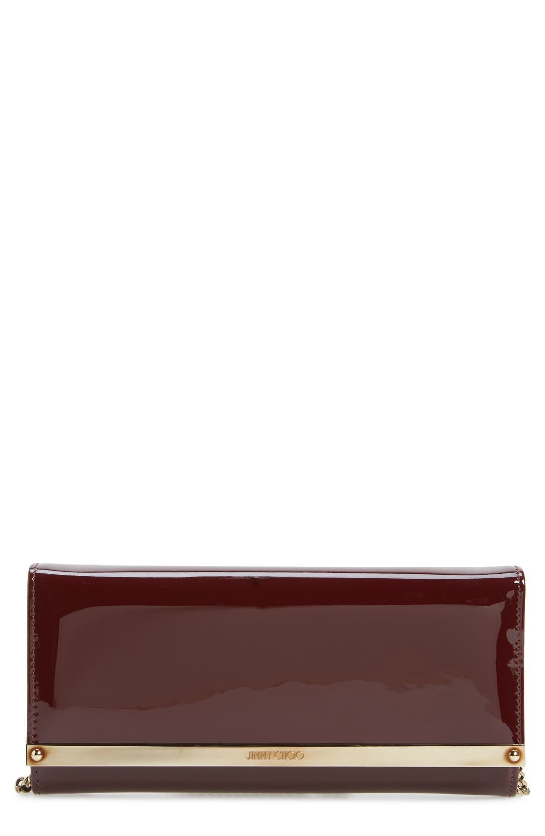 'Milla' Patent Leather Wallet on a Chain,                             Main thumbnail 8, color,