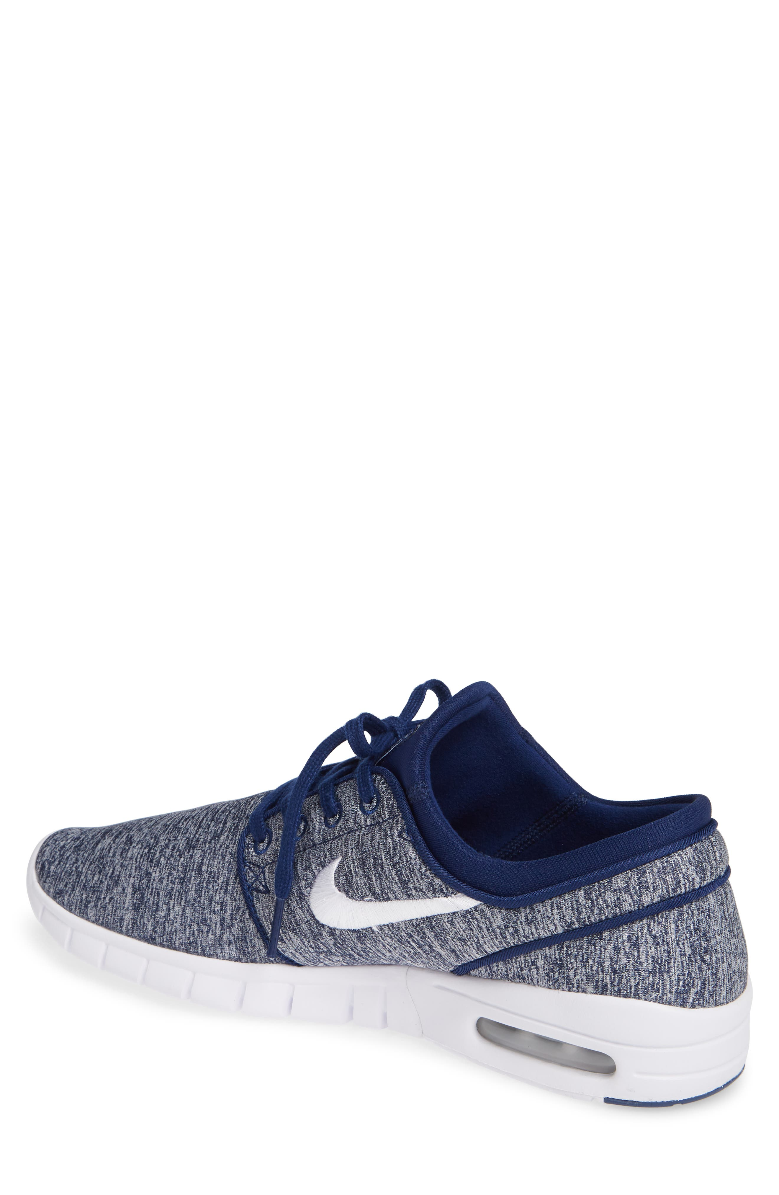 'Stefan Janoski - Max SB' Skate Shoe,                             Alternate thumbnail 2, color,                             BLUE VOID/ WHITE