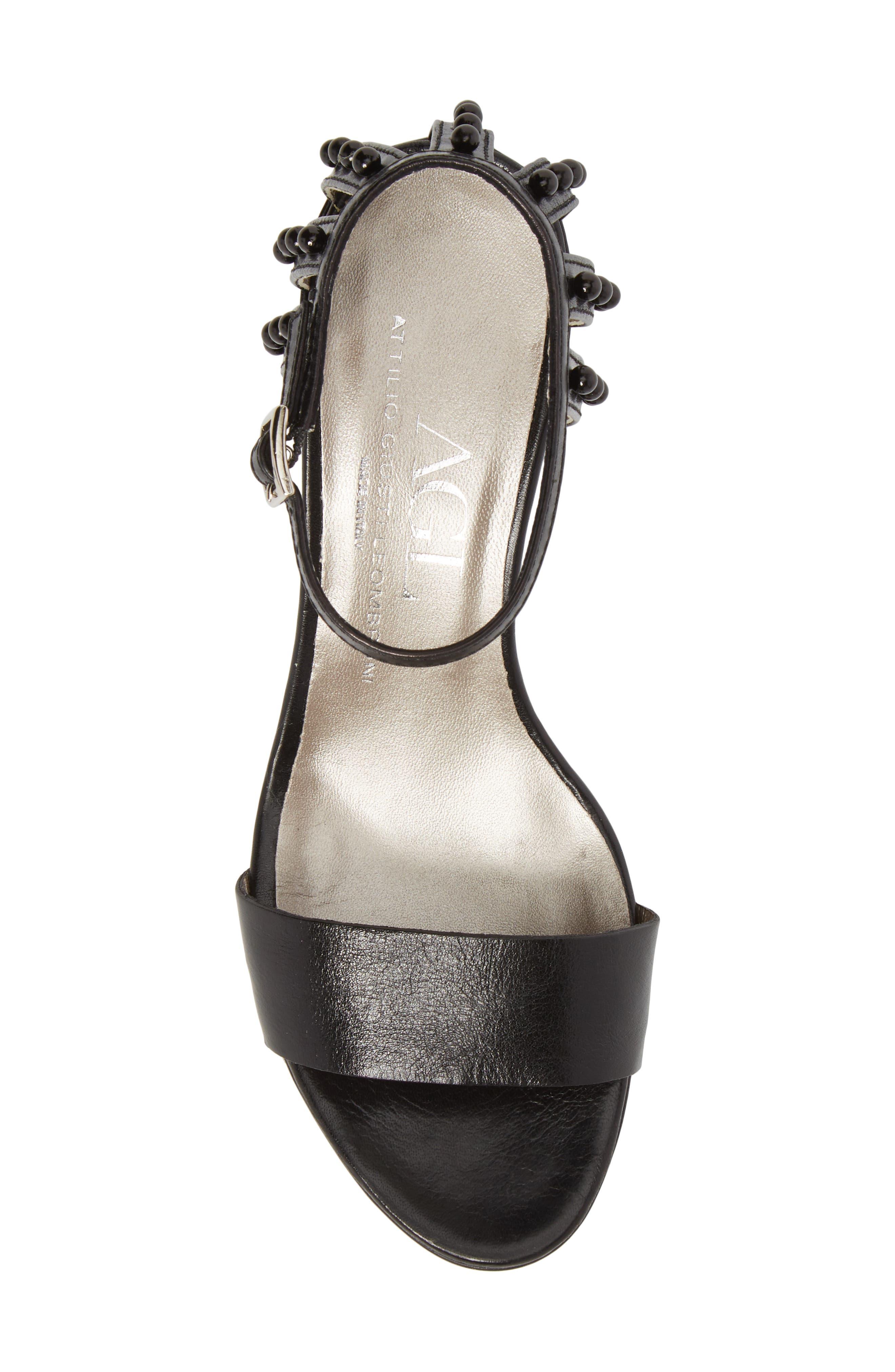 Embellished Ankle Strap Sandal,                             Alternate thumbnail 5, color,                             001