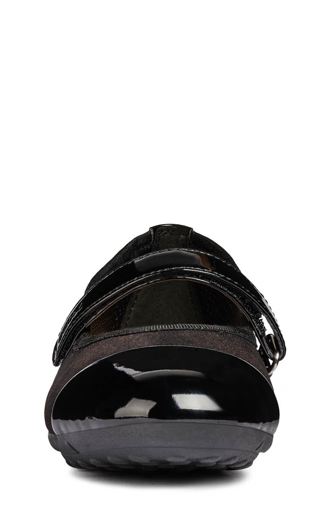 Piuma Mary Jane Flat,                             Alternate thumbnail 4, color,                             BLACK/ BORDEAUX