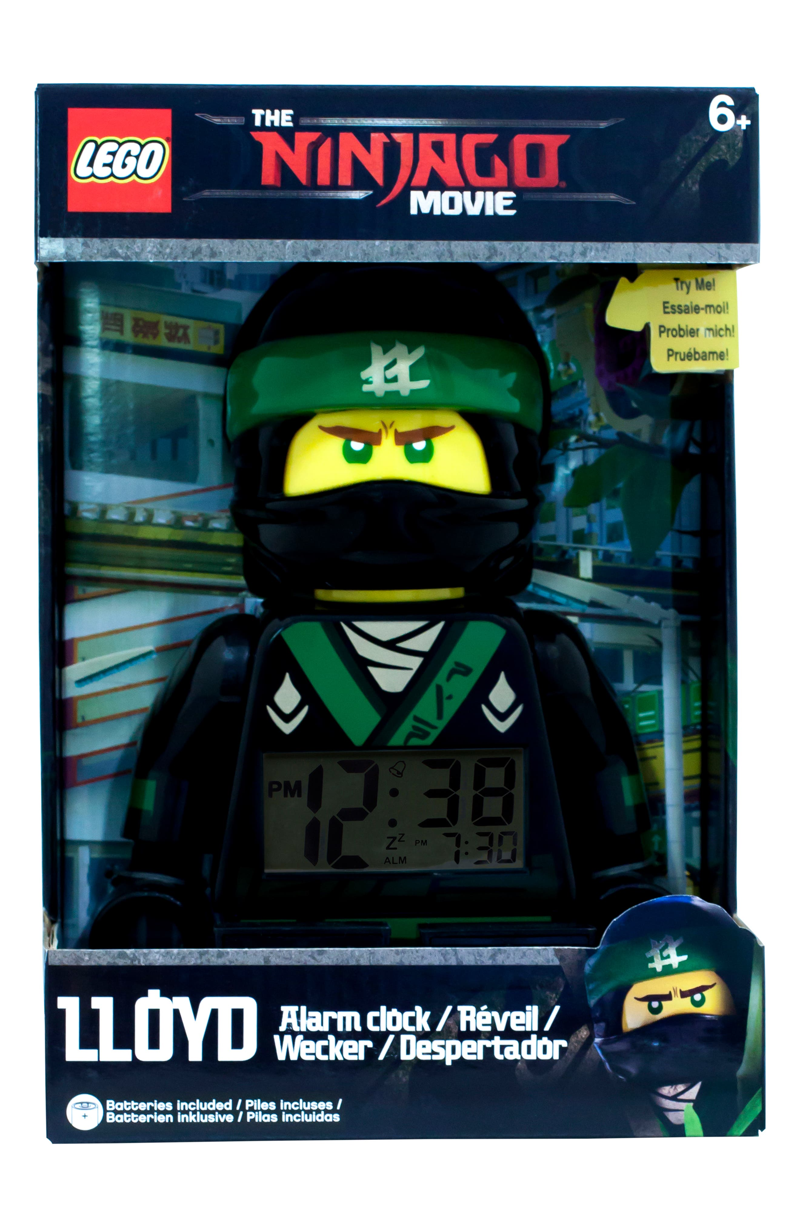 Ninjago Lloyd Digital Alarm Clock Minifigure,                             Alternate thumbnail 3, color,