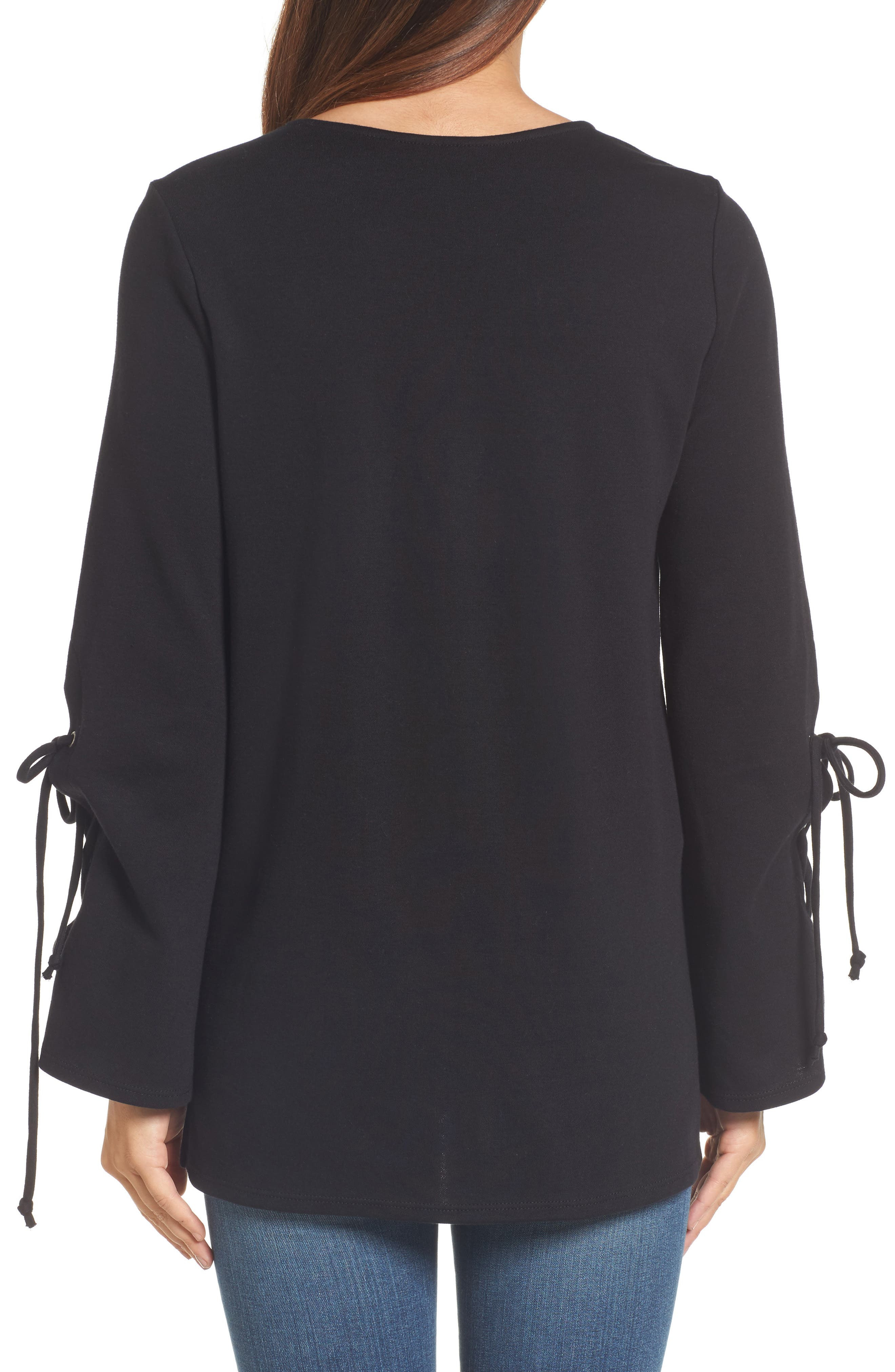 Terry Tie Sleeve Tunic,                             Alternate thumbnail 2, color,                             001