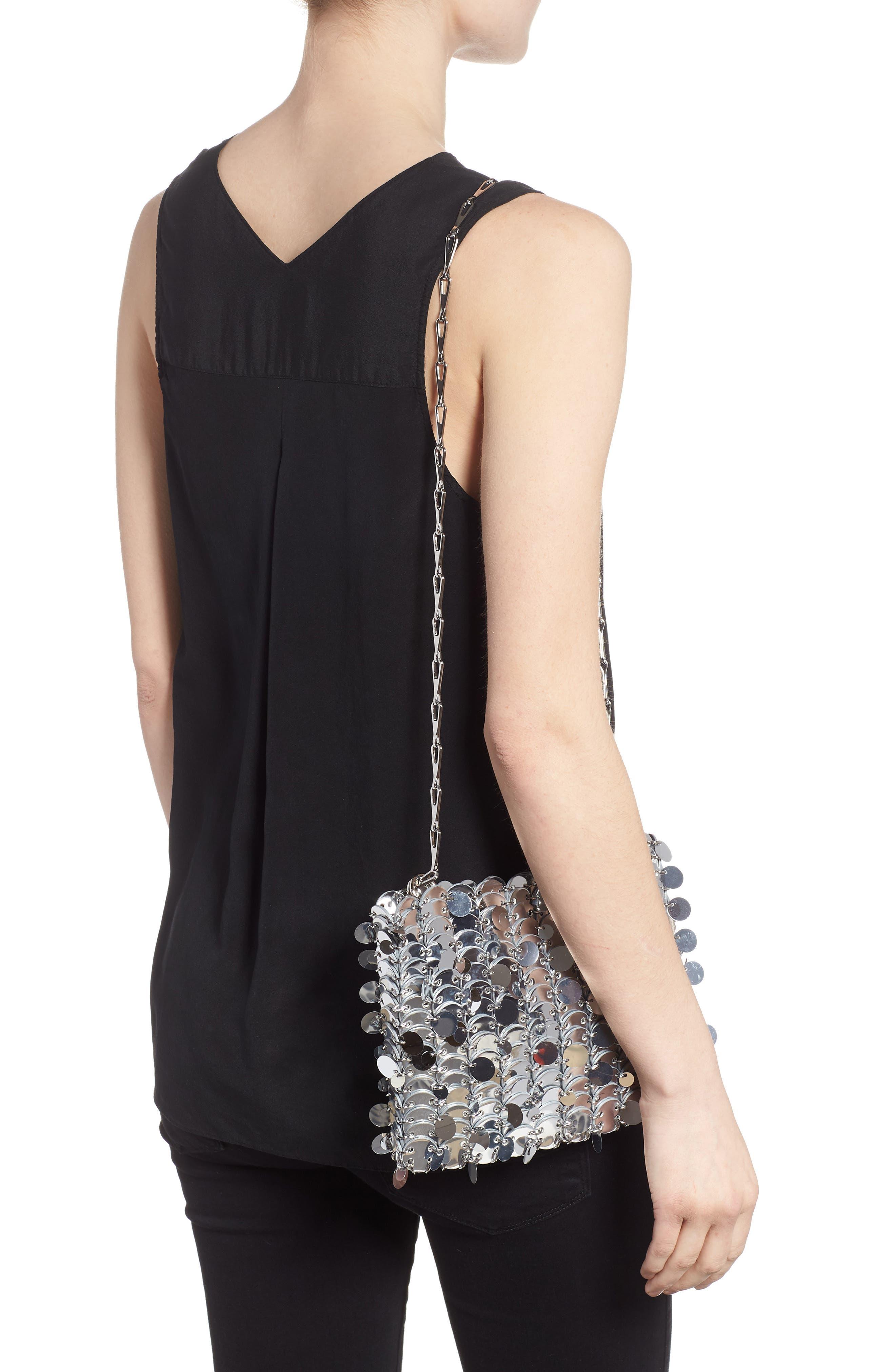 Iconic Shoulder Bag,                             Alternate thumbnail 2, color,                             SILVER