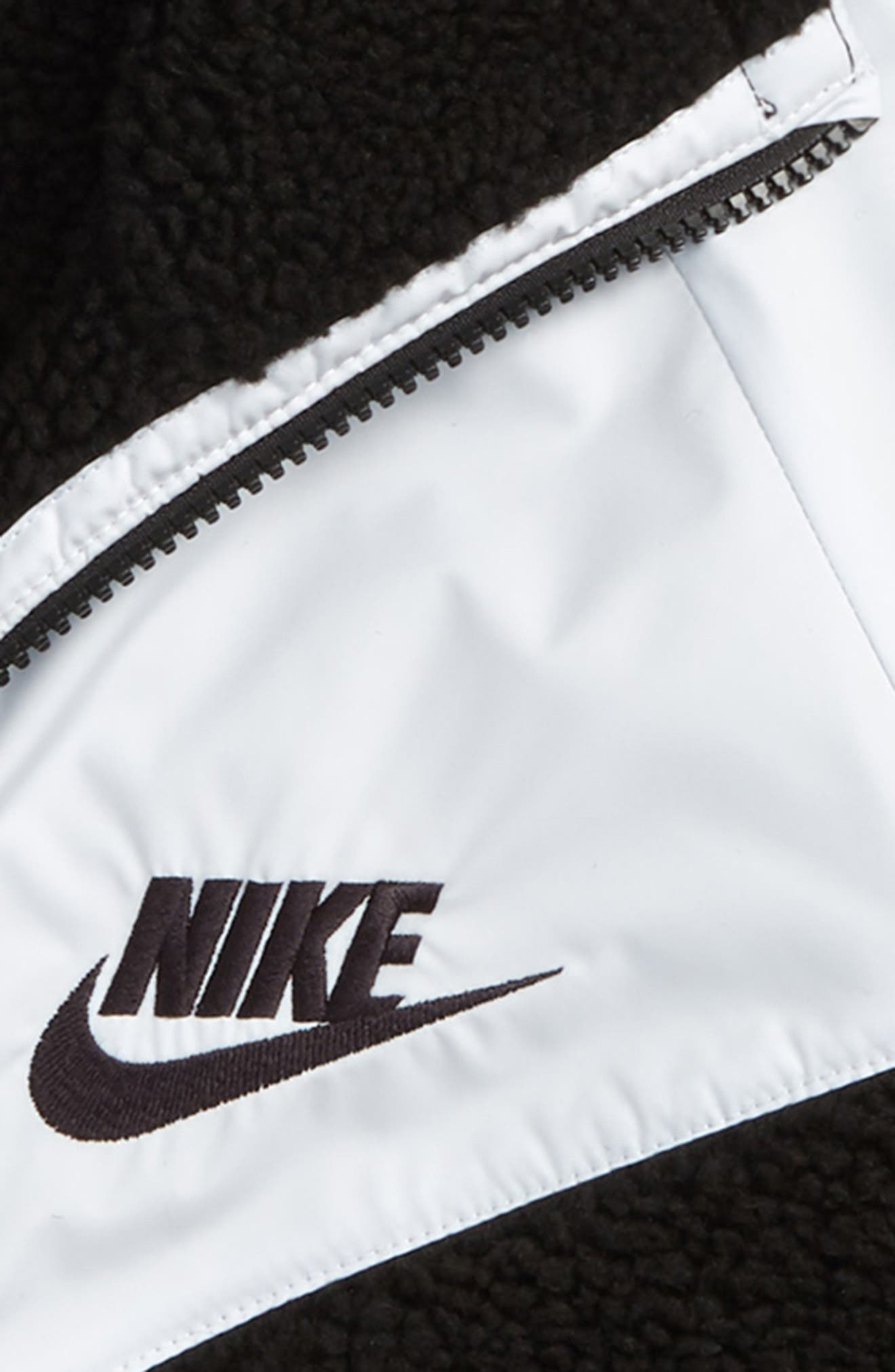 Sportswear Fleece Hooded Windrunner Jacket,                             Alternate thumbnail 2, color,                             BLACK/ PURE PLATINUM