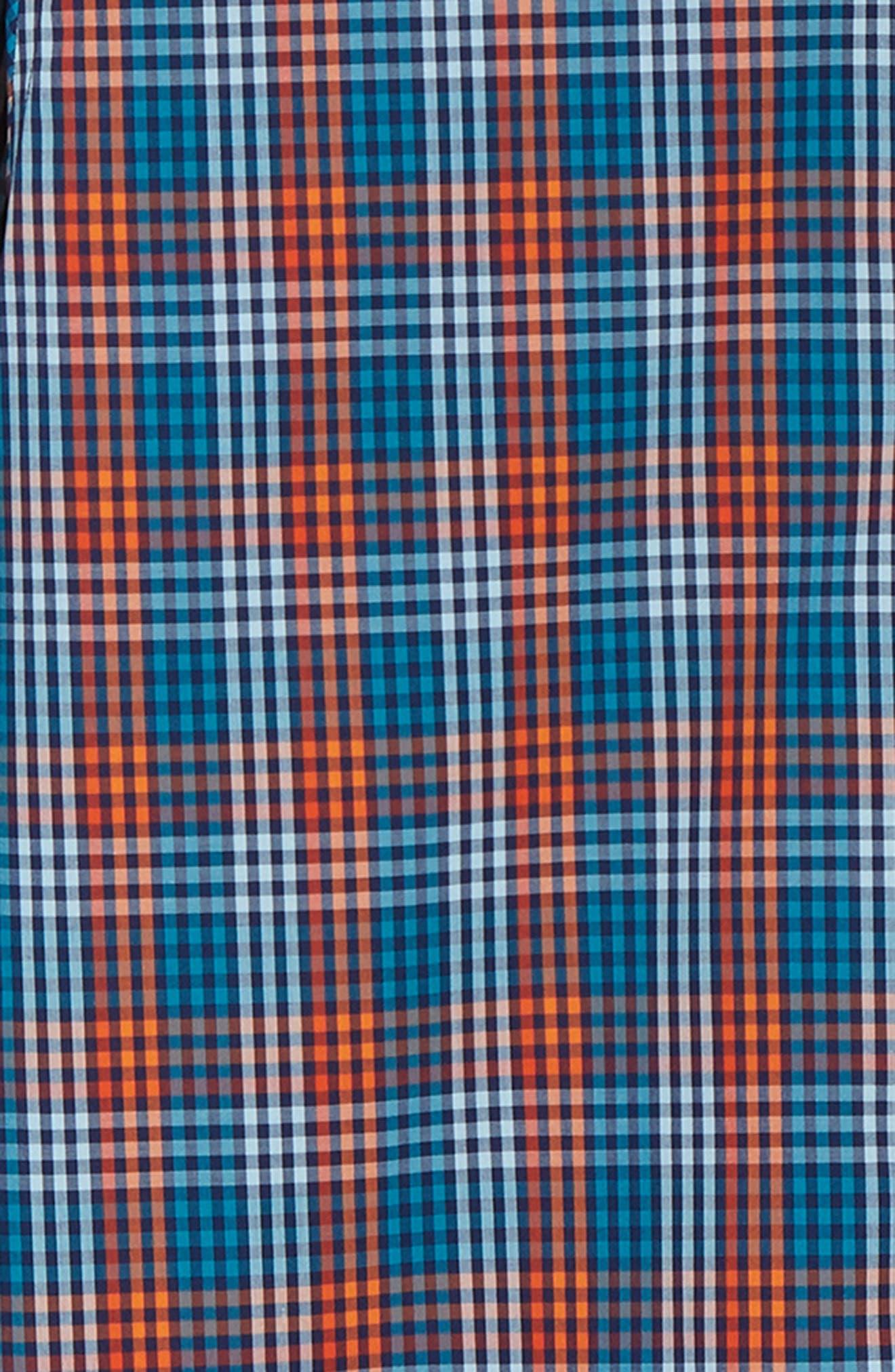 Sutton Regular Fit Non-Iron Check Sport Shirt,                             Alternate thumbnail 6, color,                             ALARM