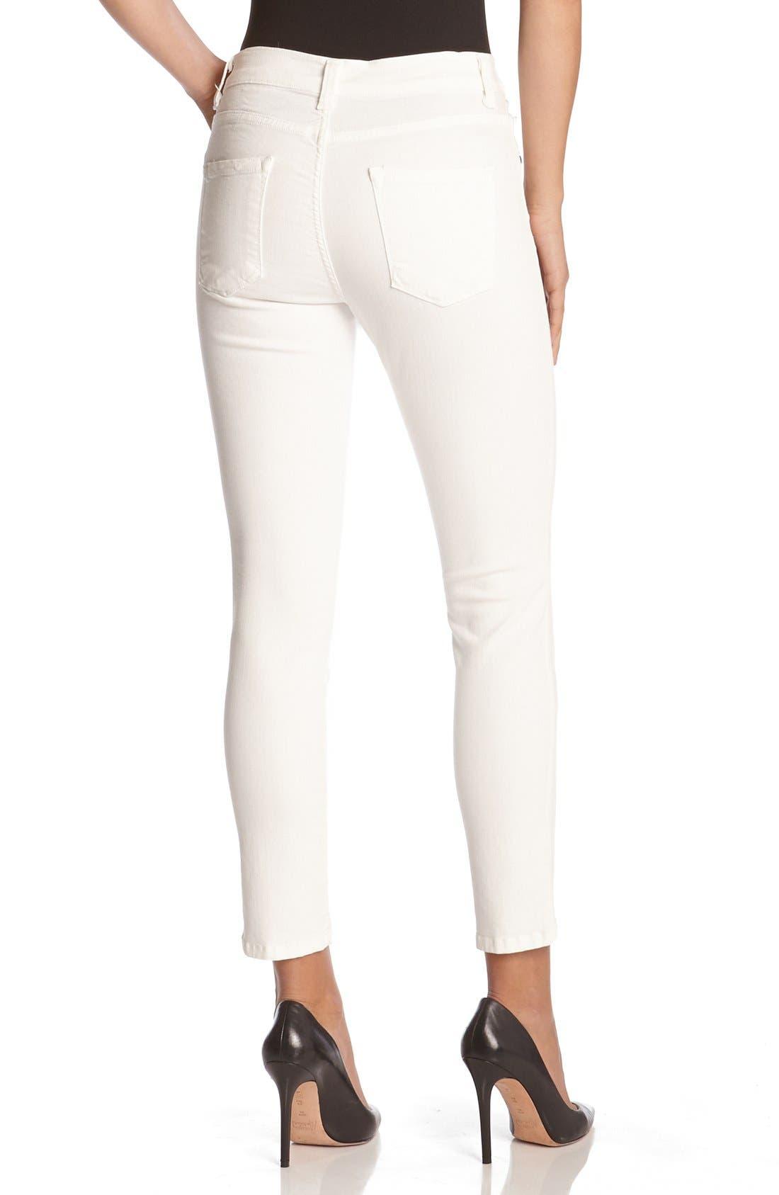 'Zuma' Stretch Crop Skinny Jeans,                             Alternate thumbnail 2, color,                             CREAM