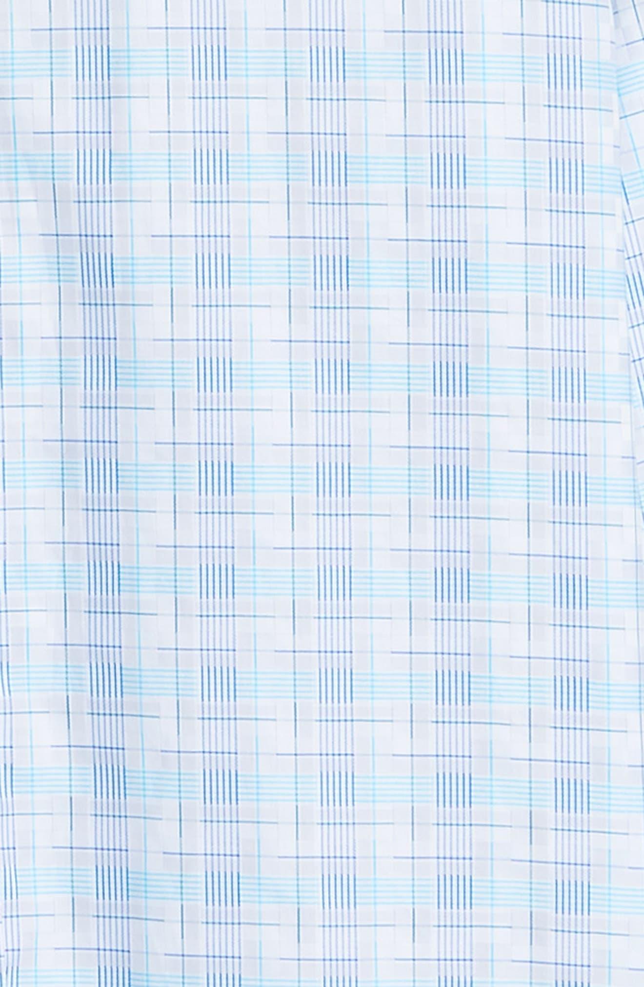 BUGATCHI,                             Shaped Fit Sport Shirt,                             Alternate thumbnail 6, color,                             SNOW