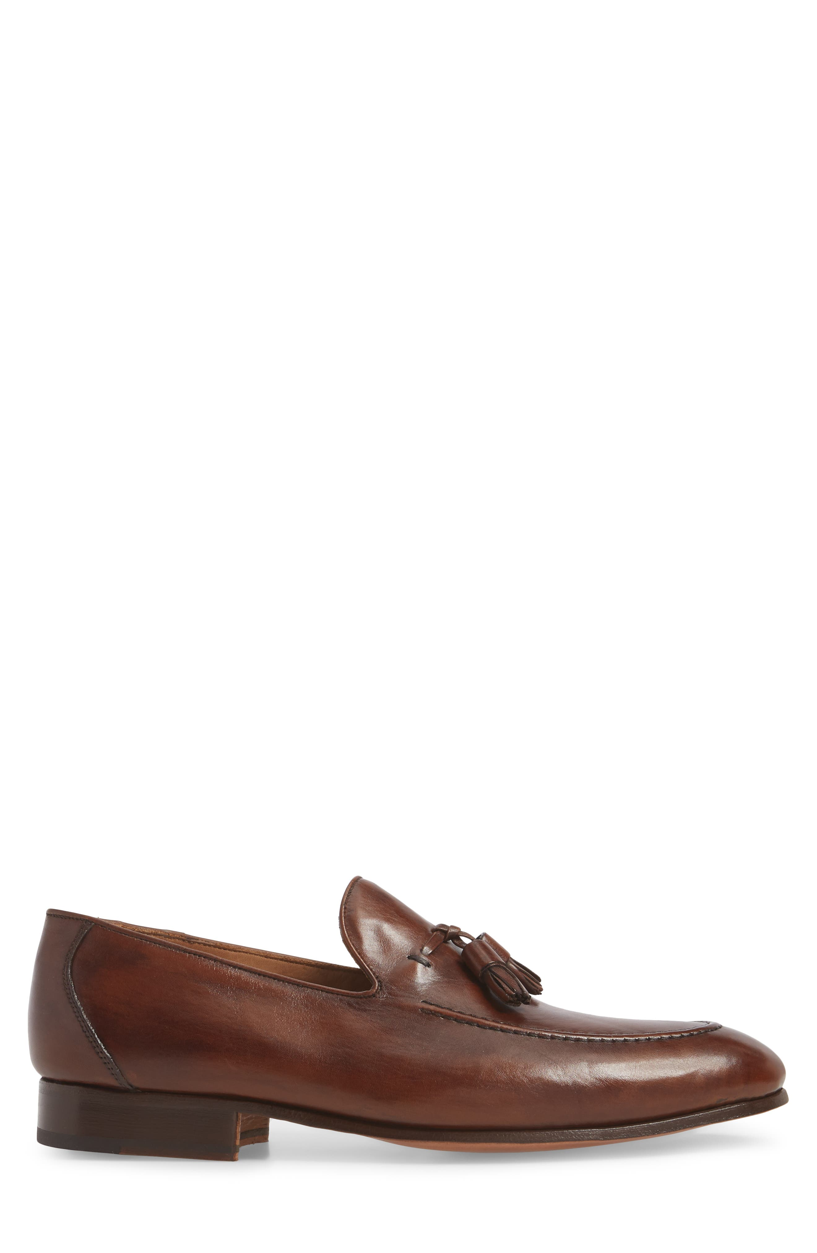 Ario Tassel Loafer,                             Alternate thumbnail 3, color,                             BROWN LEATHER