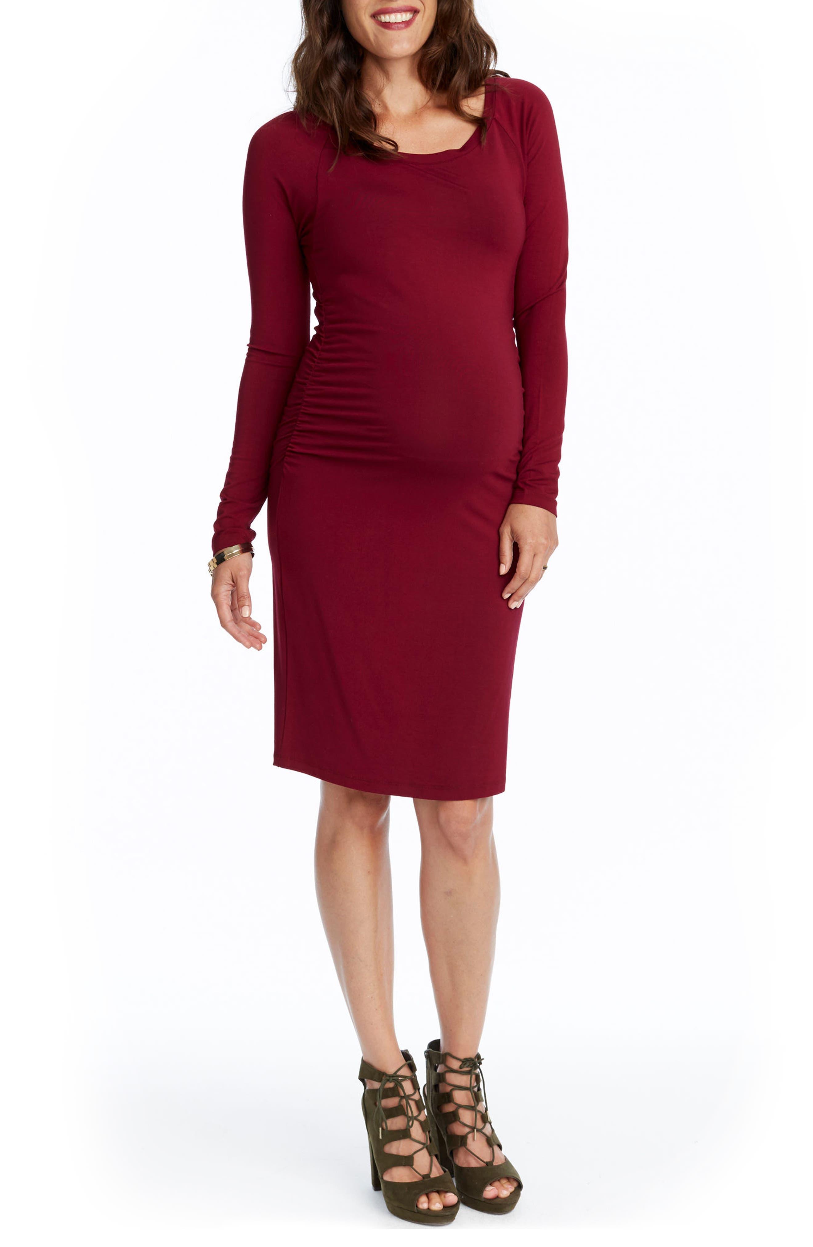 Rosie Pope Maternity Sheath Dress, Burgundy
