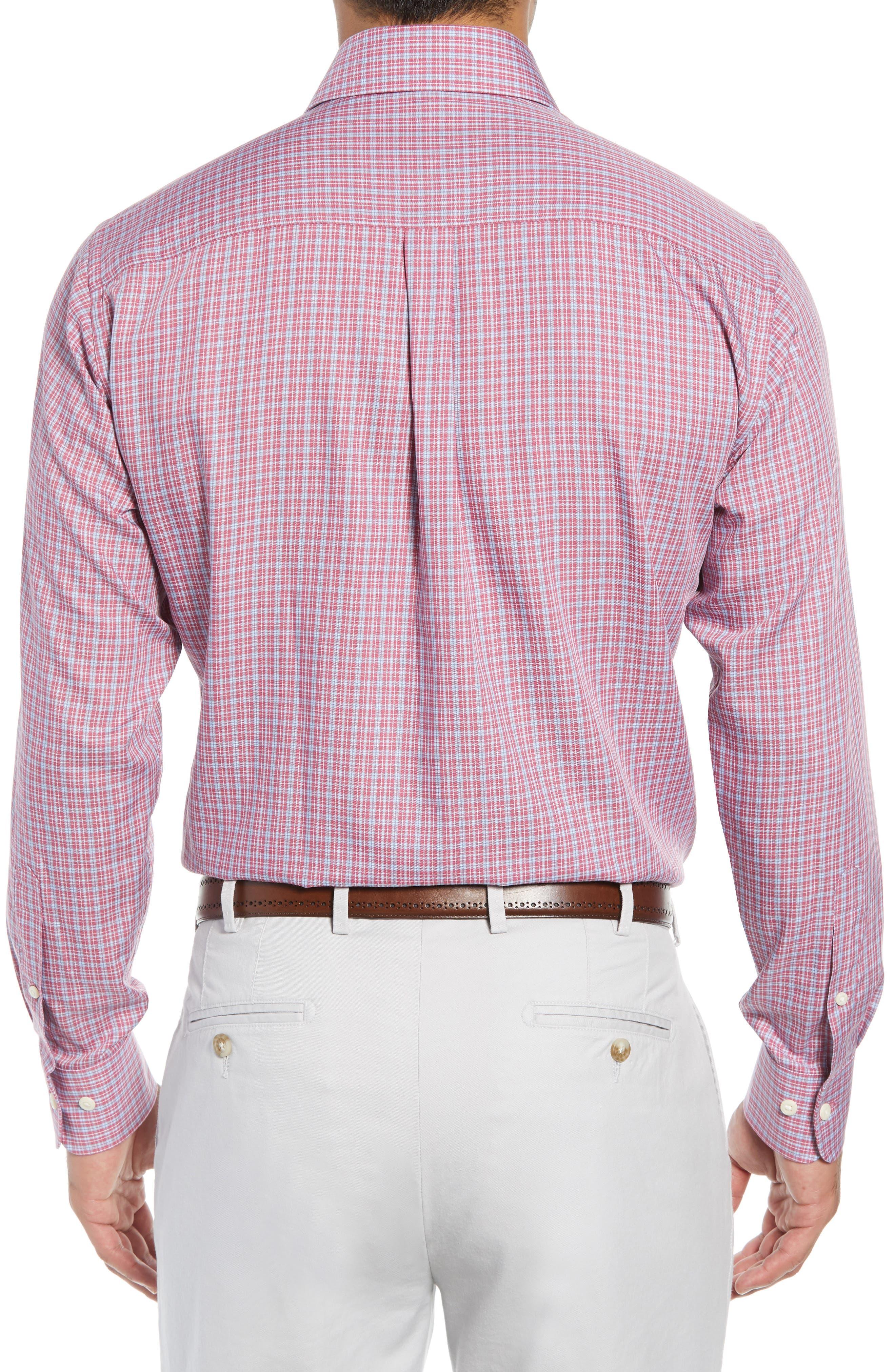 Province Regular Fit Check Sport Shirt,                             Alternate thumbnail 3, color,                             PINK