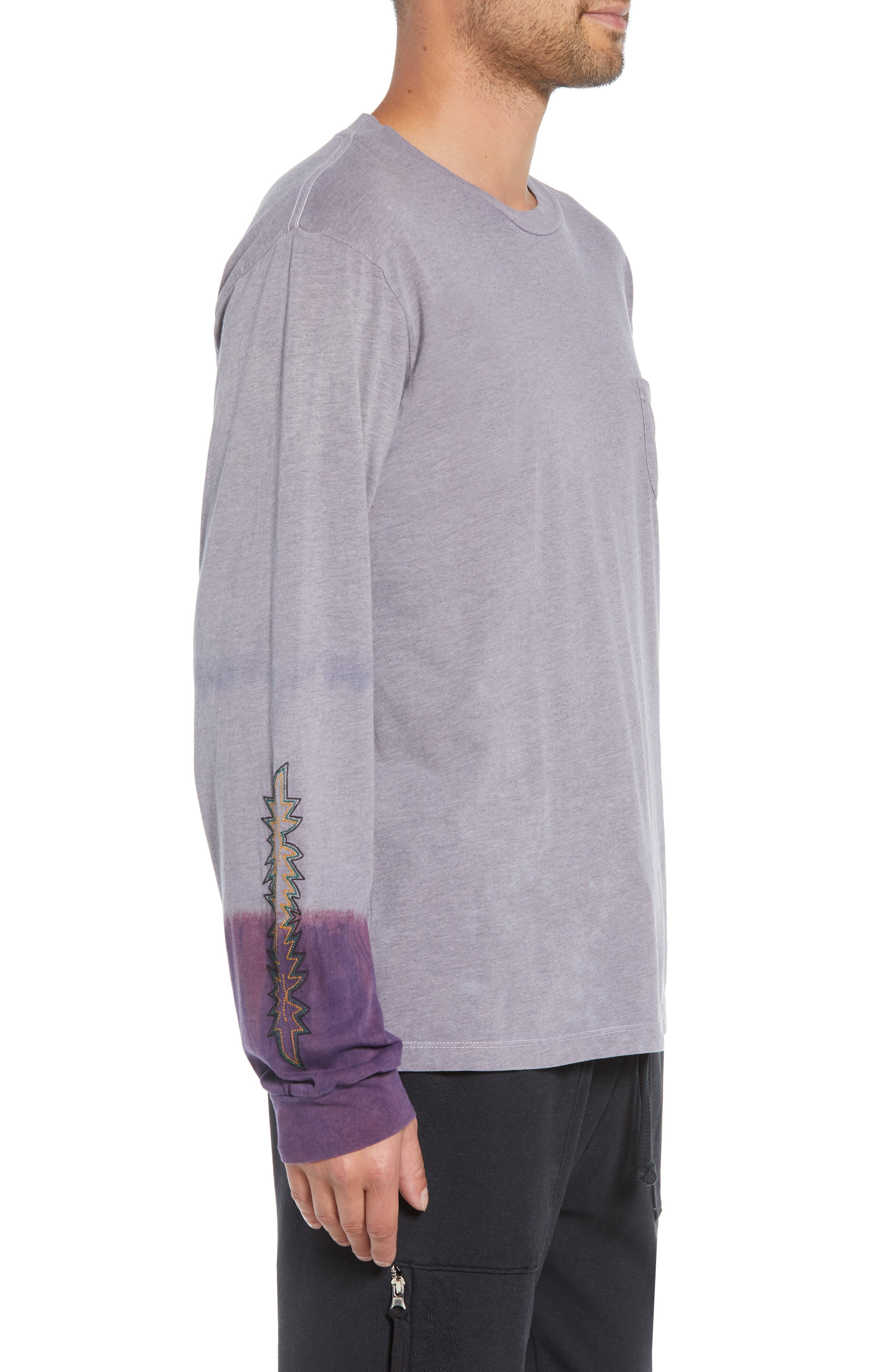 Kojak Pocket T-Shirt,                             Alternate thumbnail 3, color,                             PURPLE ASH