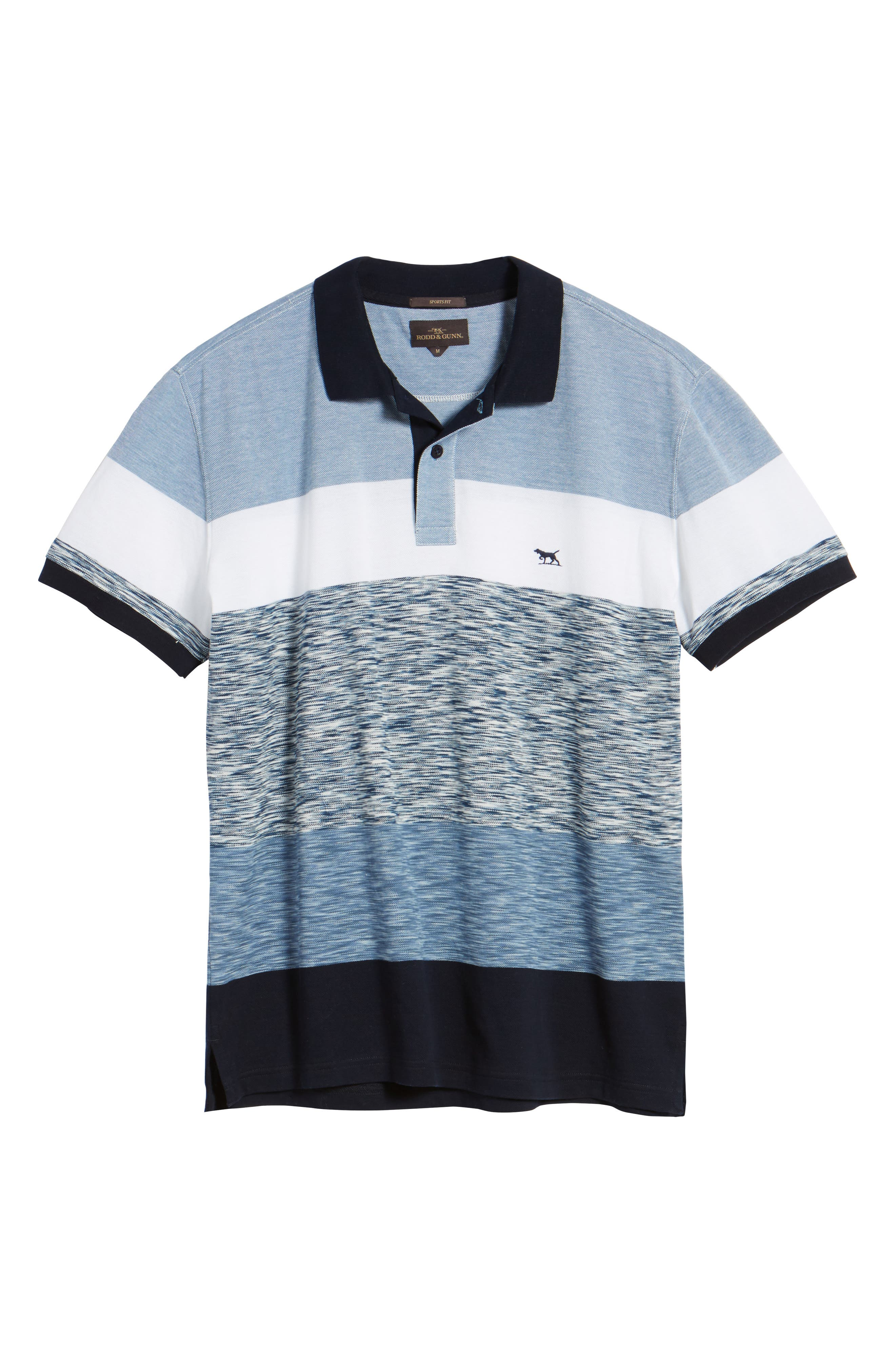 Castlepoint Sport Fit Stripe Polo,                             Alternate thumbnail 6, color,                             433