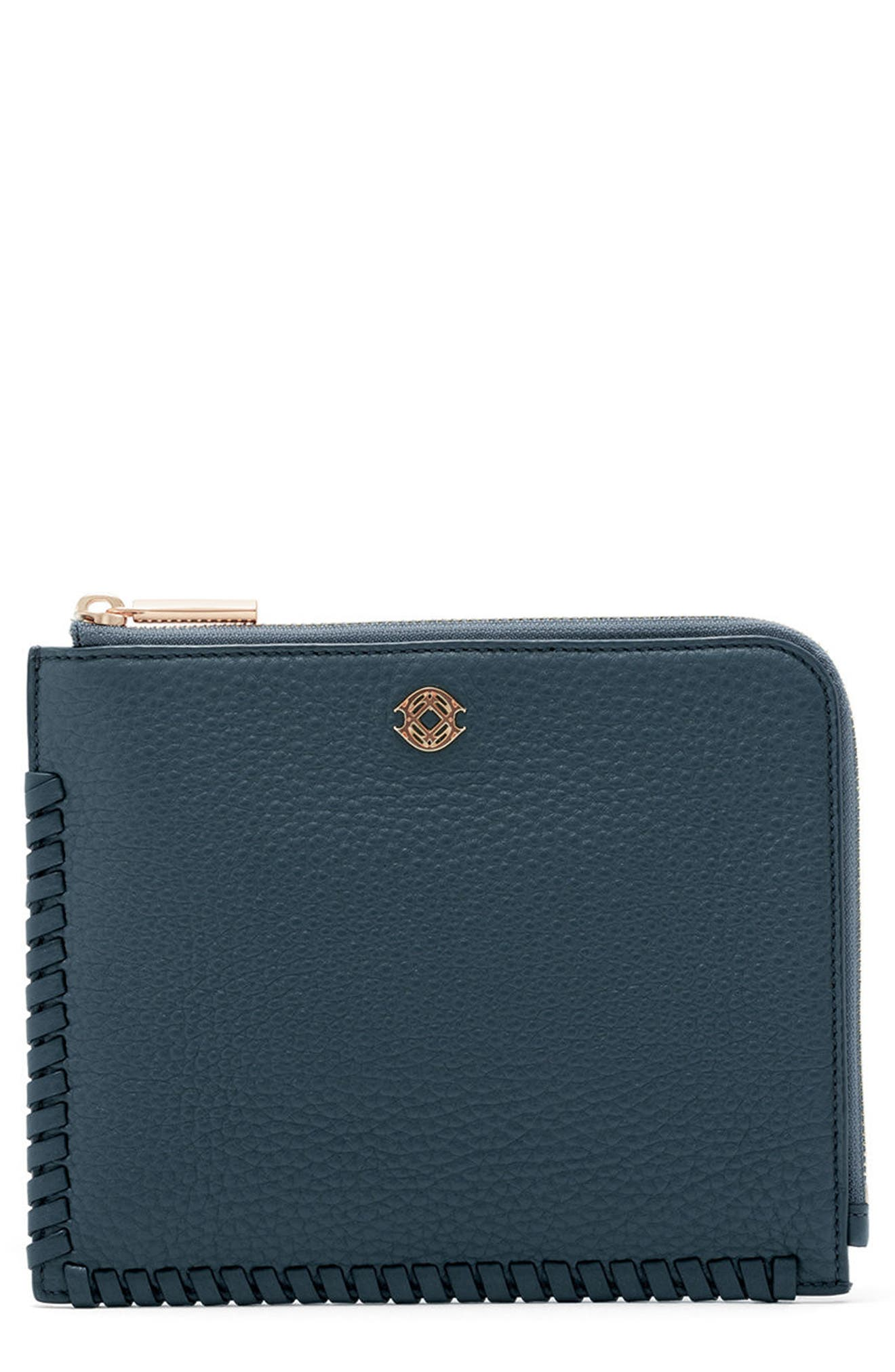 Small Elle Leather Clutch,                             Main thumbnail 3, color,