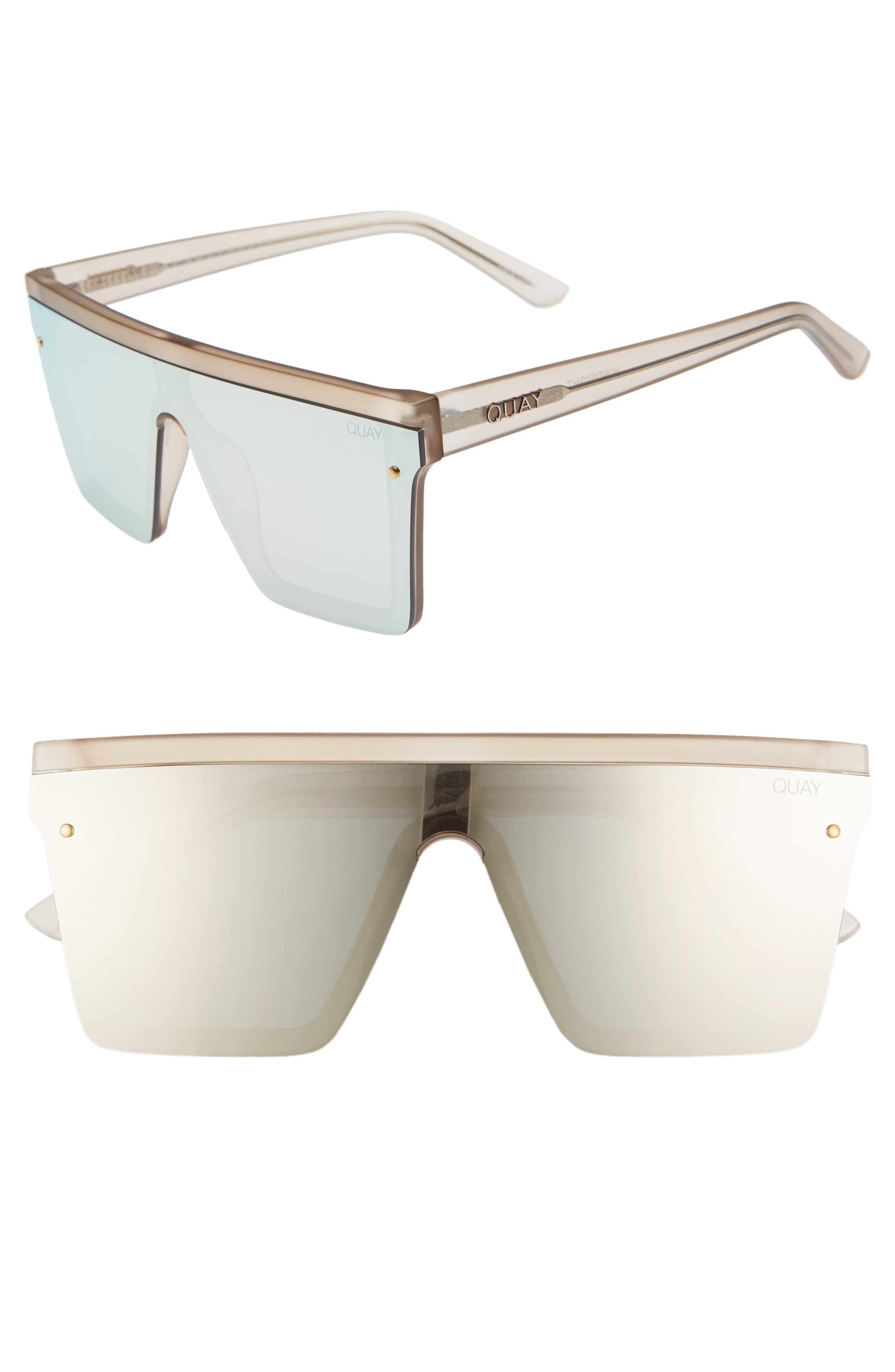 Hindsight 150mm Shield Sunglasses,                             Main thumbnail 1, color,                             GOLD/ GOLD