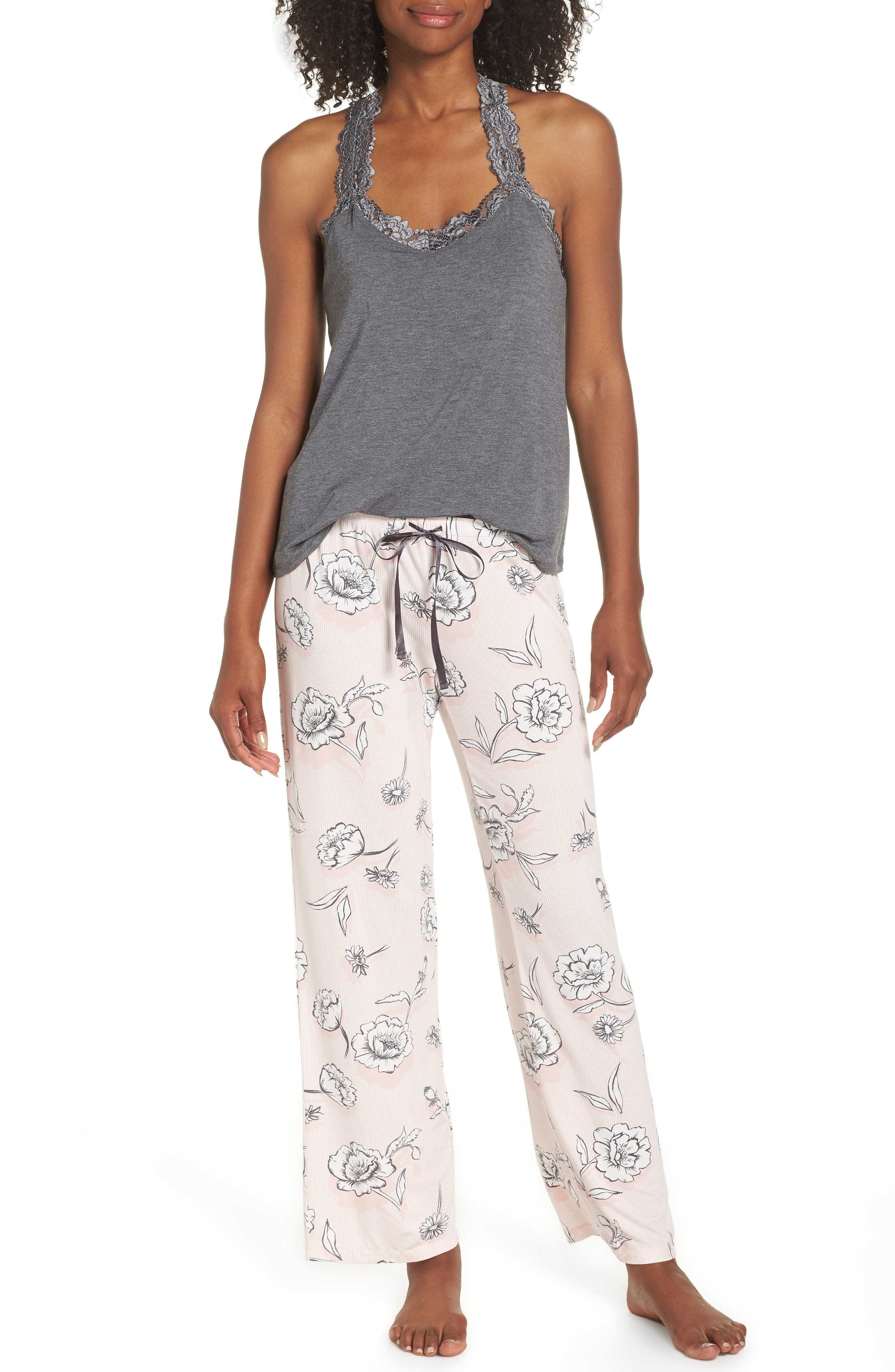 Floral Pajama Pants,                             Alternate thumbnail 7, color,                             650