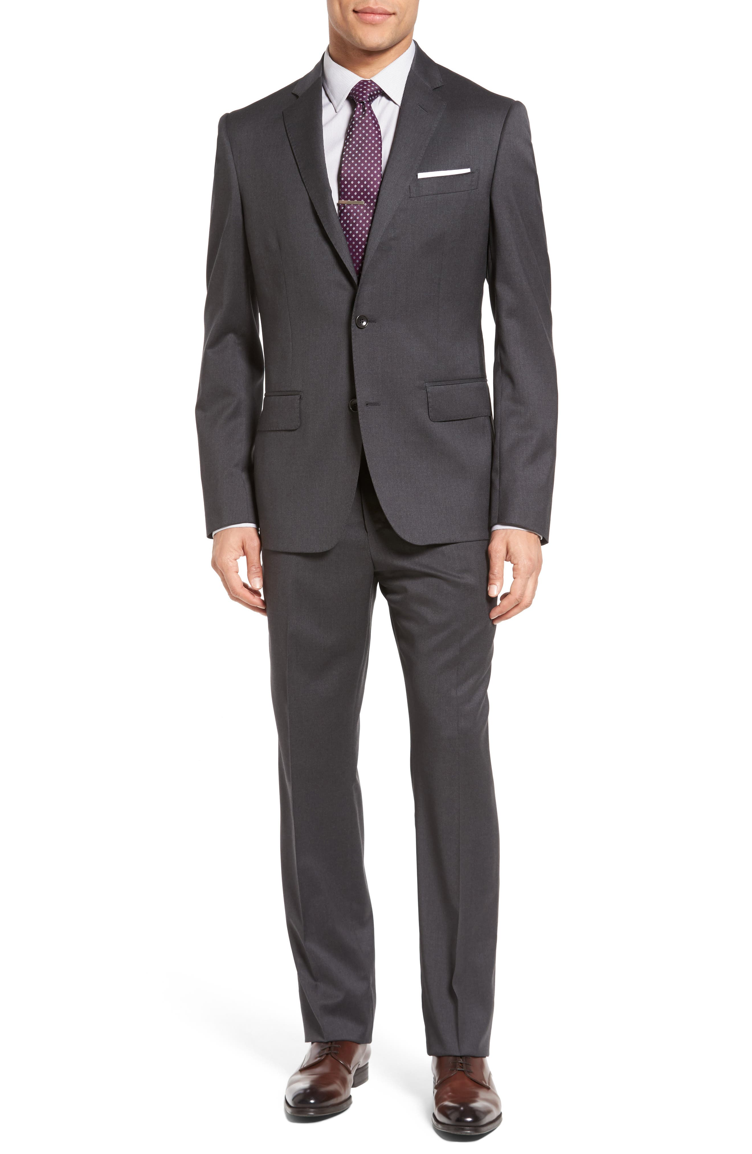 Classic Fit Solid Wool Suit,                             Main thumbnail 2, color,