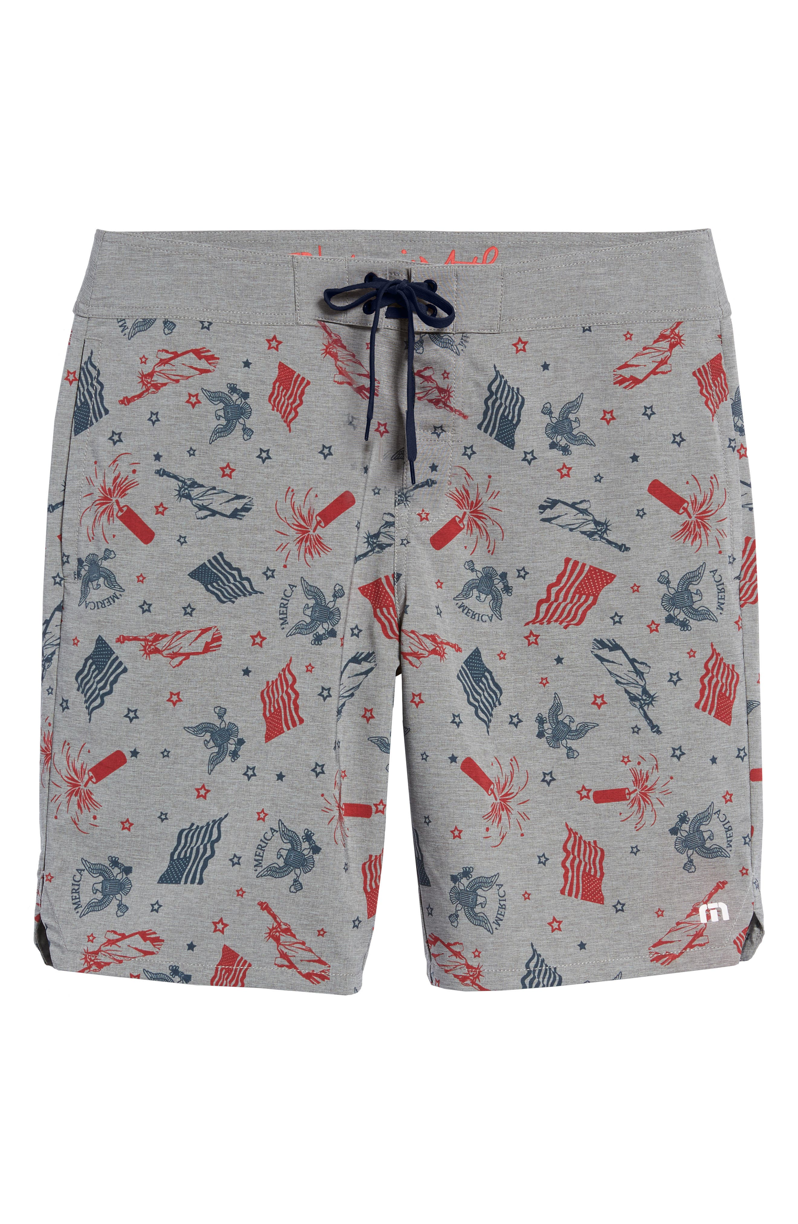 Liberty Swim Trunks,                             Alternate thumbnail 6, color,                             HEATHER GRIFFIN