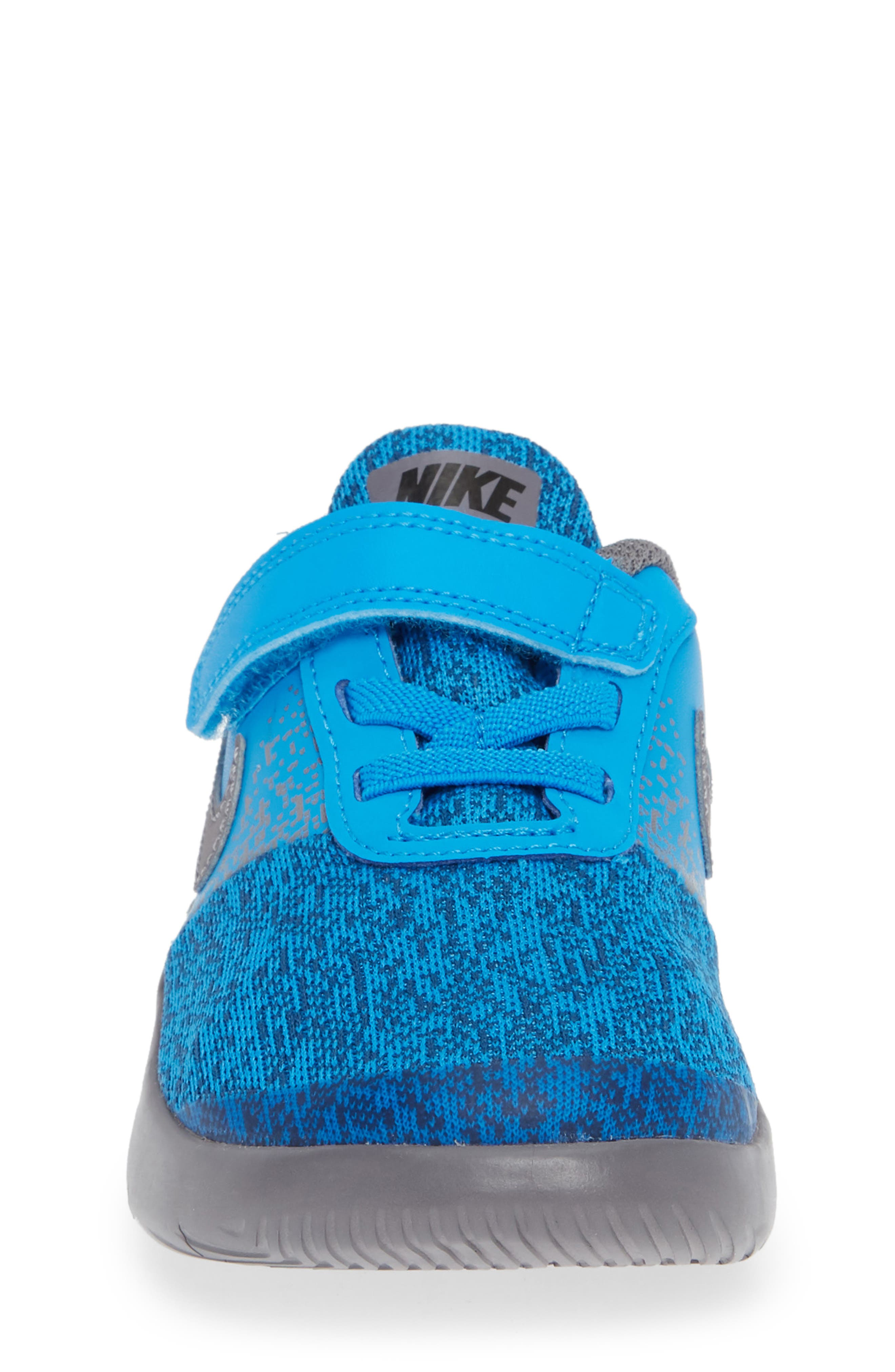 Flex Contact Running Shoe,                             Alternate thumbnail 4, color,                             BLUE HERO/ GUNSMOKE/ GREEN
