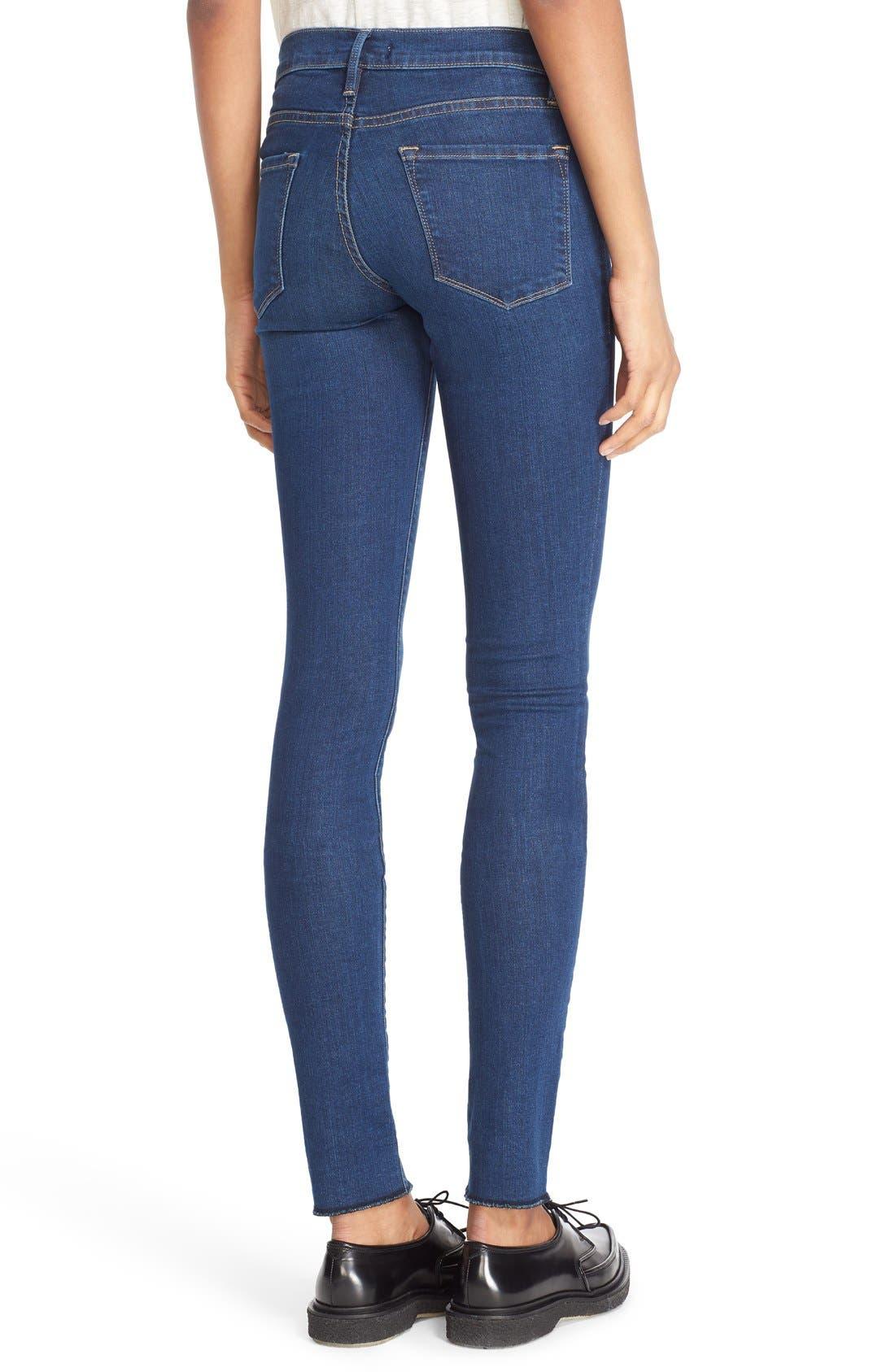FRAME,                             Forever Karlie Skinny Jeans,                             Alternate thumbnail 3, color,                             401