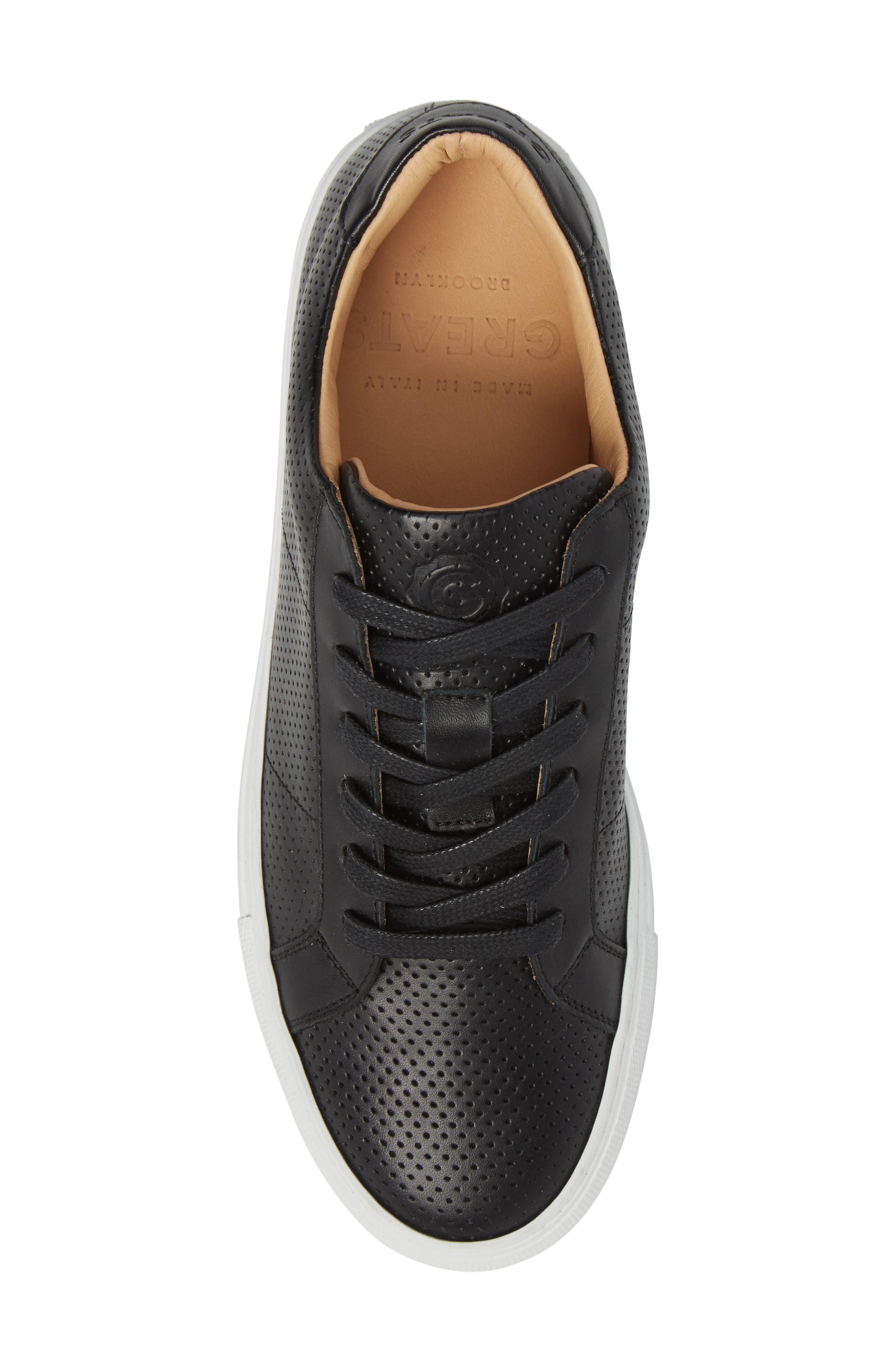 Royale Low Top Sneaker,                             Alternate thumbnail 5, color,                             BLACK PERFORATED