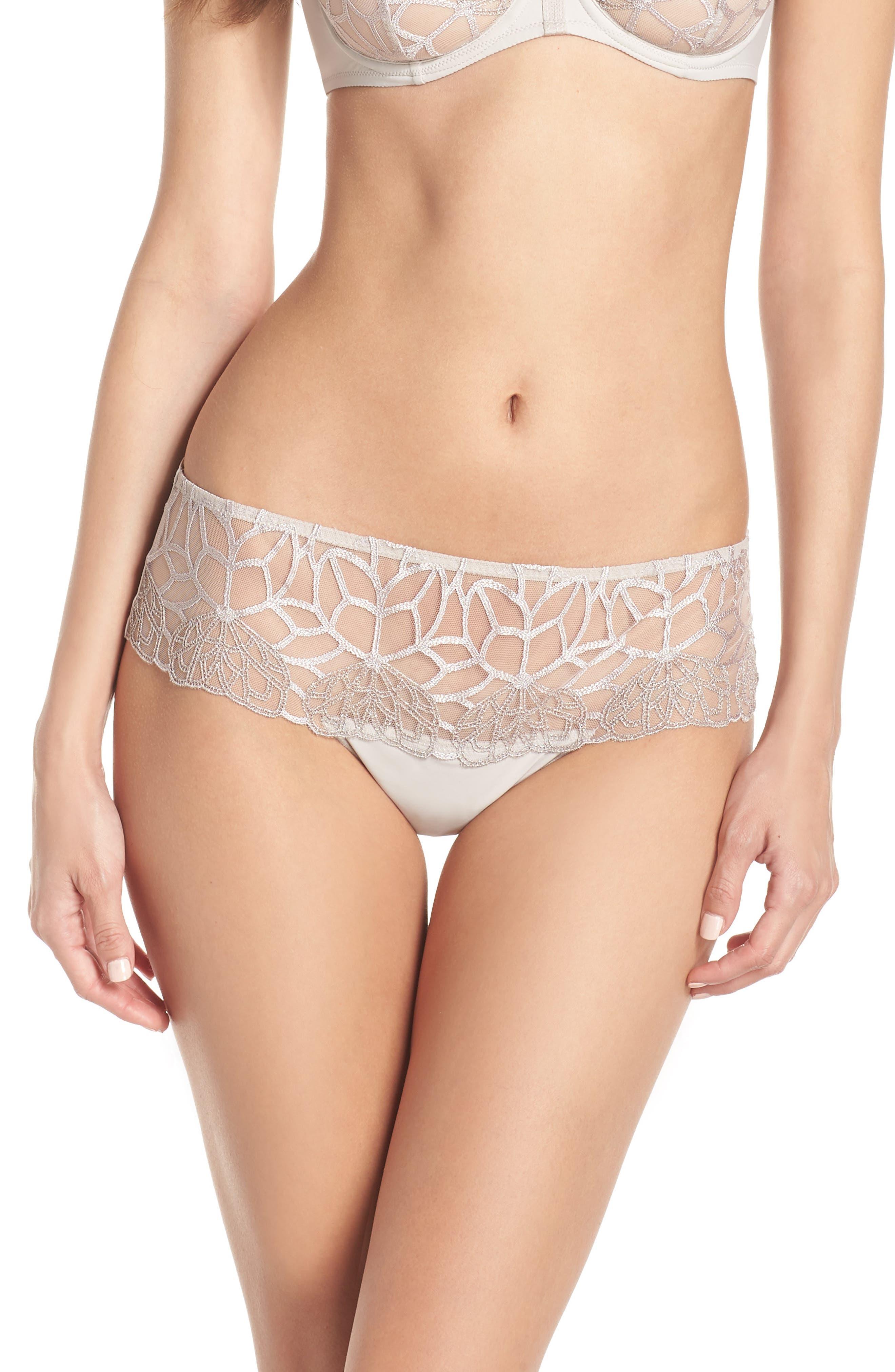 SIMONE PERELE,                             Java Hipster Panties,                             Main thumbnail 1, color,                             LINEN