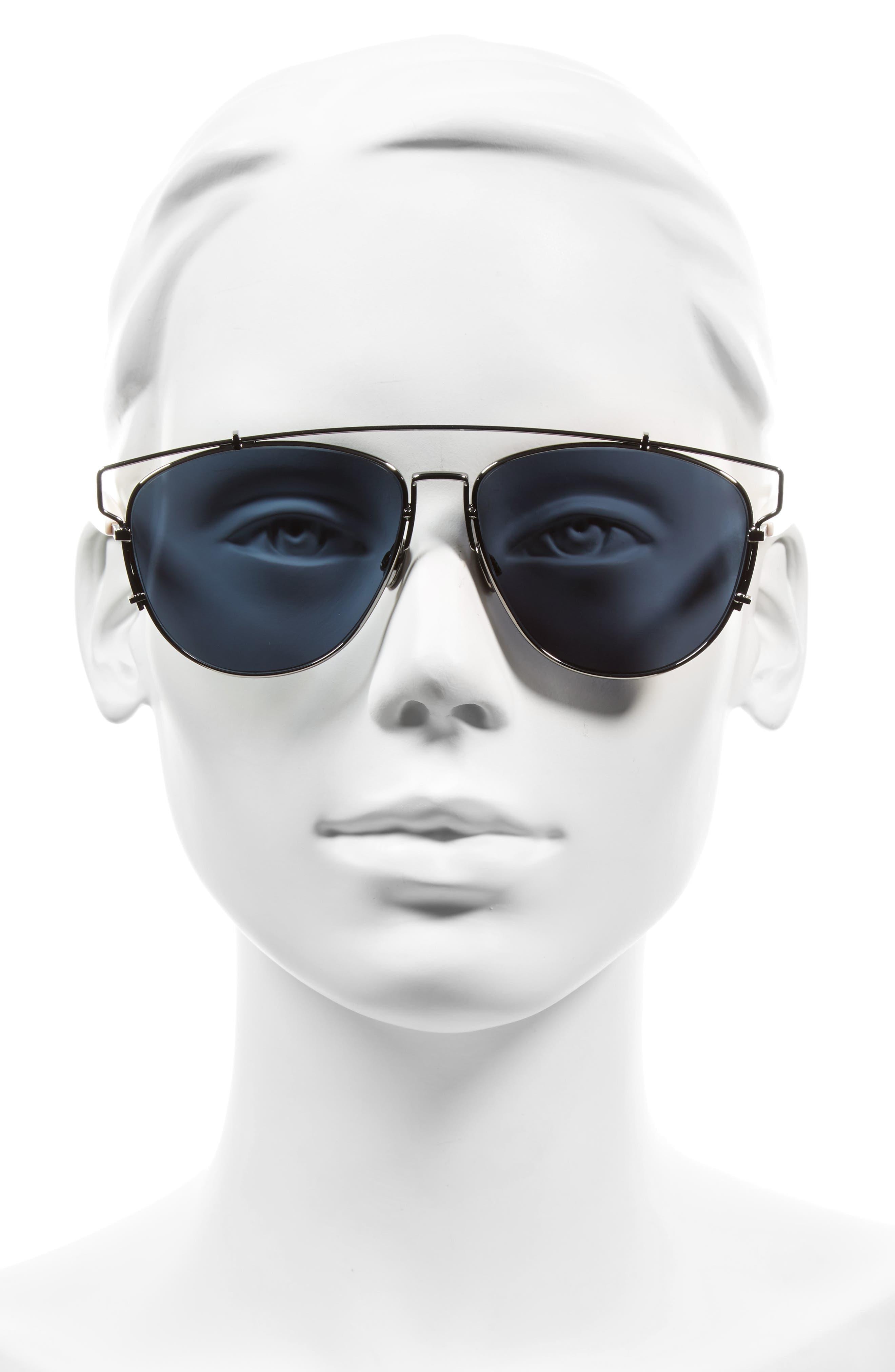 Technologic 57mm Brow Bar Sunglasses,                             Alternate thumbnail 20, color,