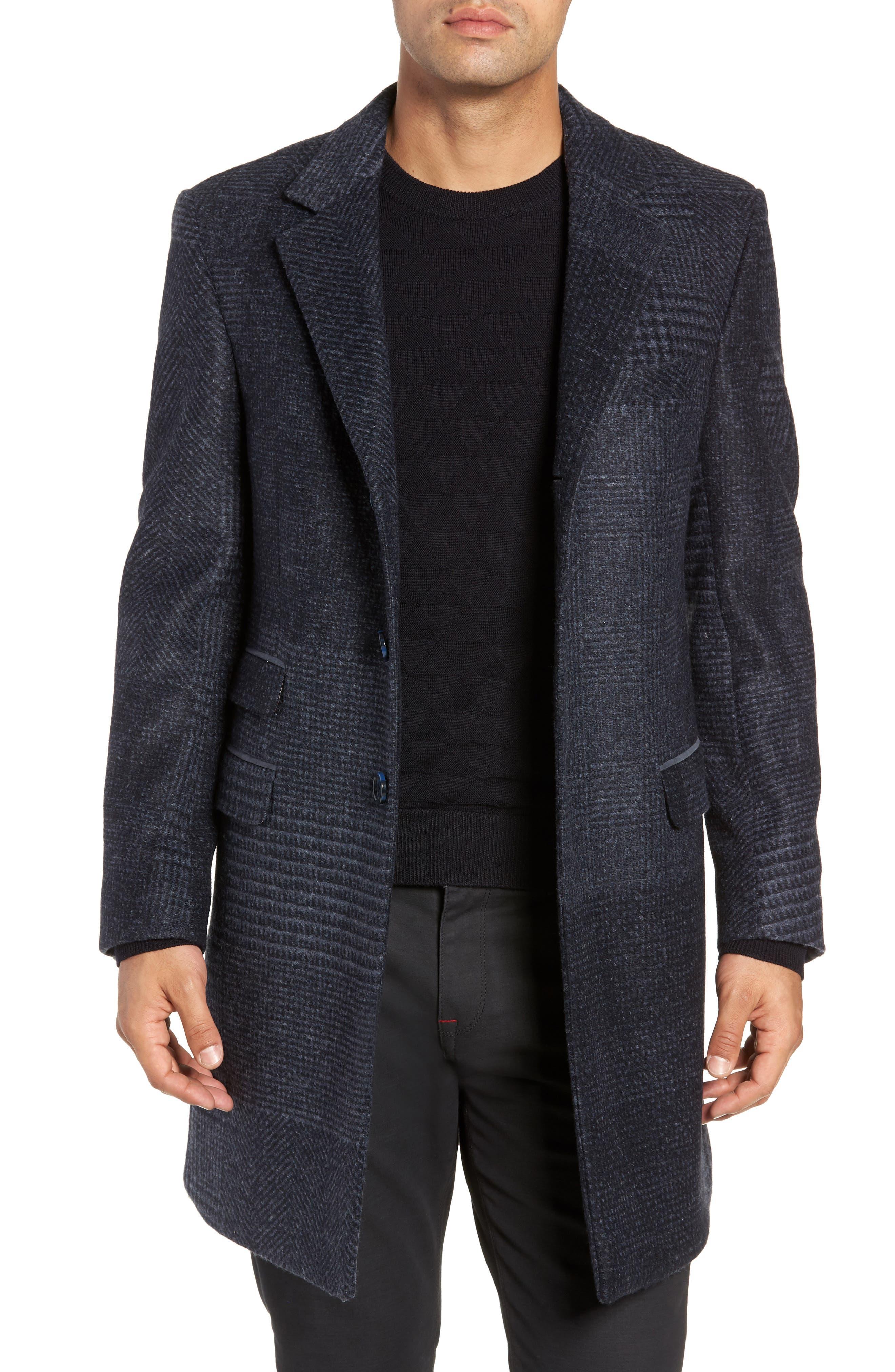 Lamberton Classic Top Coat,                             Main thumbnail 1, color,                             NAVY