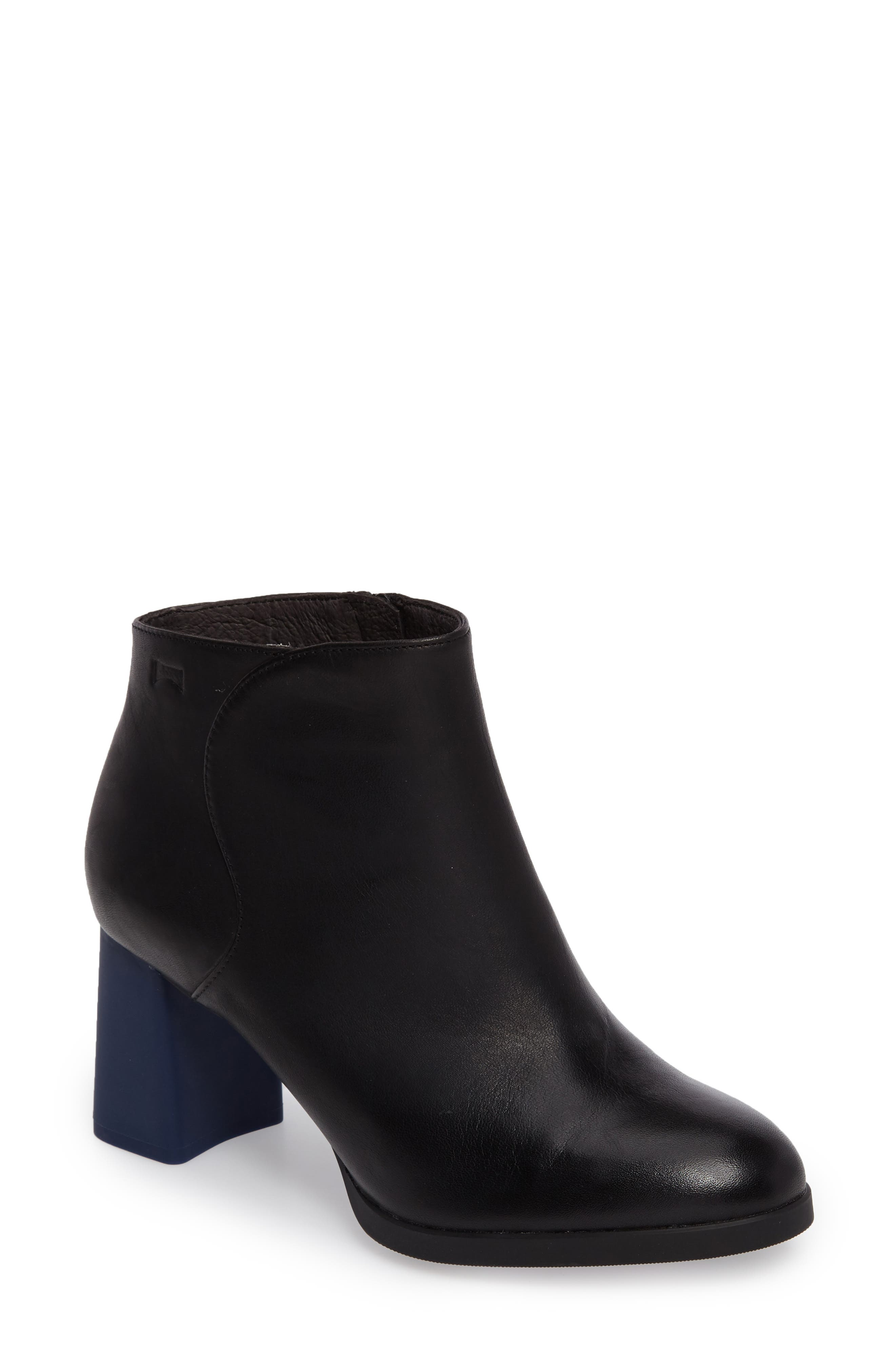 Kara Flared Heel Bootie,                             Main thumbnail 1, color,                             001