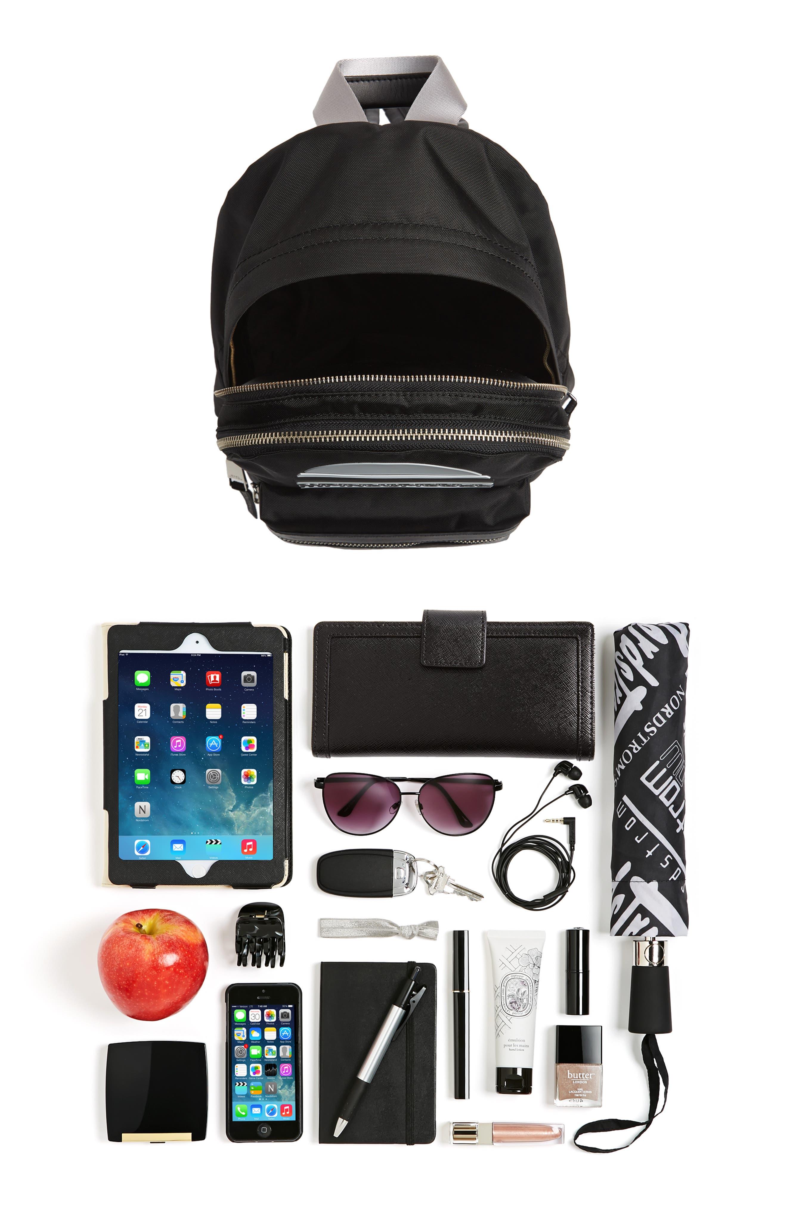 Medium Sport Trek Backpack,                             Alternate thumbnail 7, color,                             BLACK
