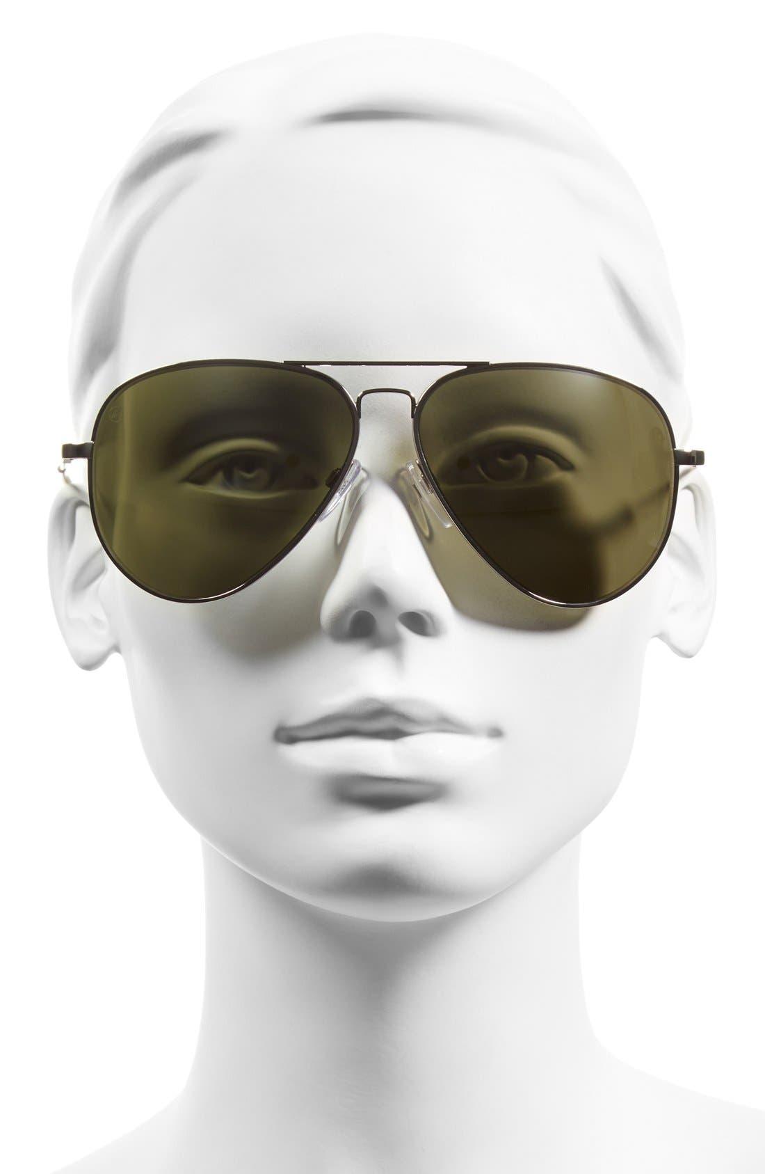 'AV1 XL' 62mm Aviator Sunglasses,                             Alternate thumbnail 6, color,
