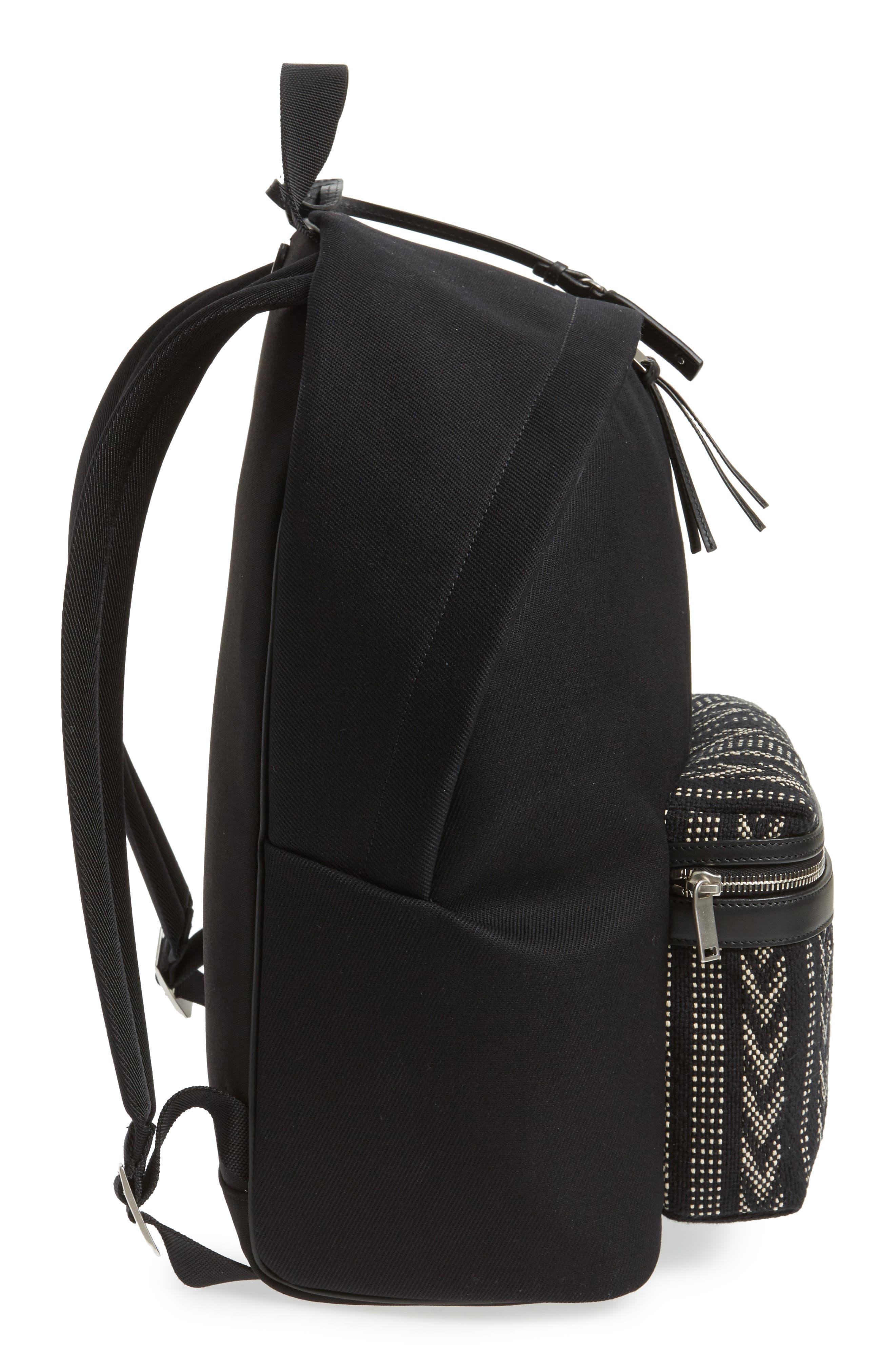 Pattern City Backpack,                             Alternate thumbnail 5, color,                             BLACK/ WHITE